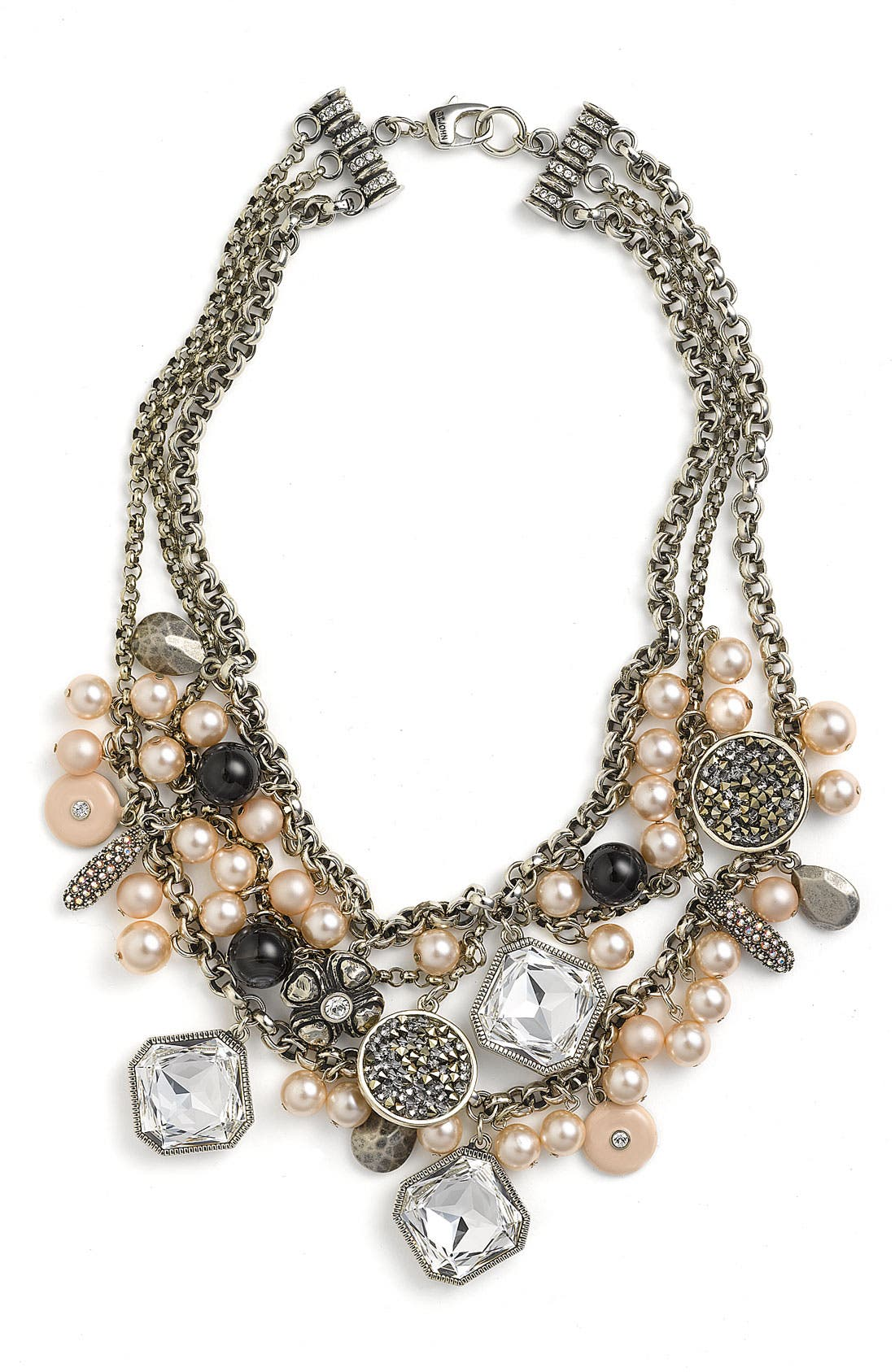 Alternate Image 1 Selected - St. John Collection Faux Pearl & Glass Charm Necklace