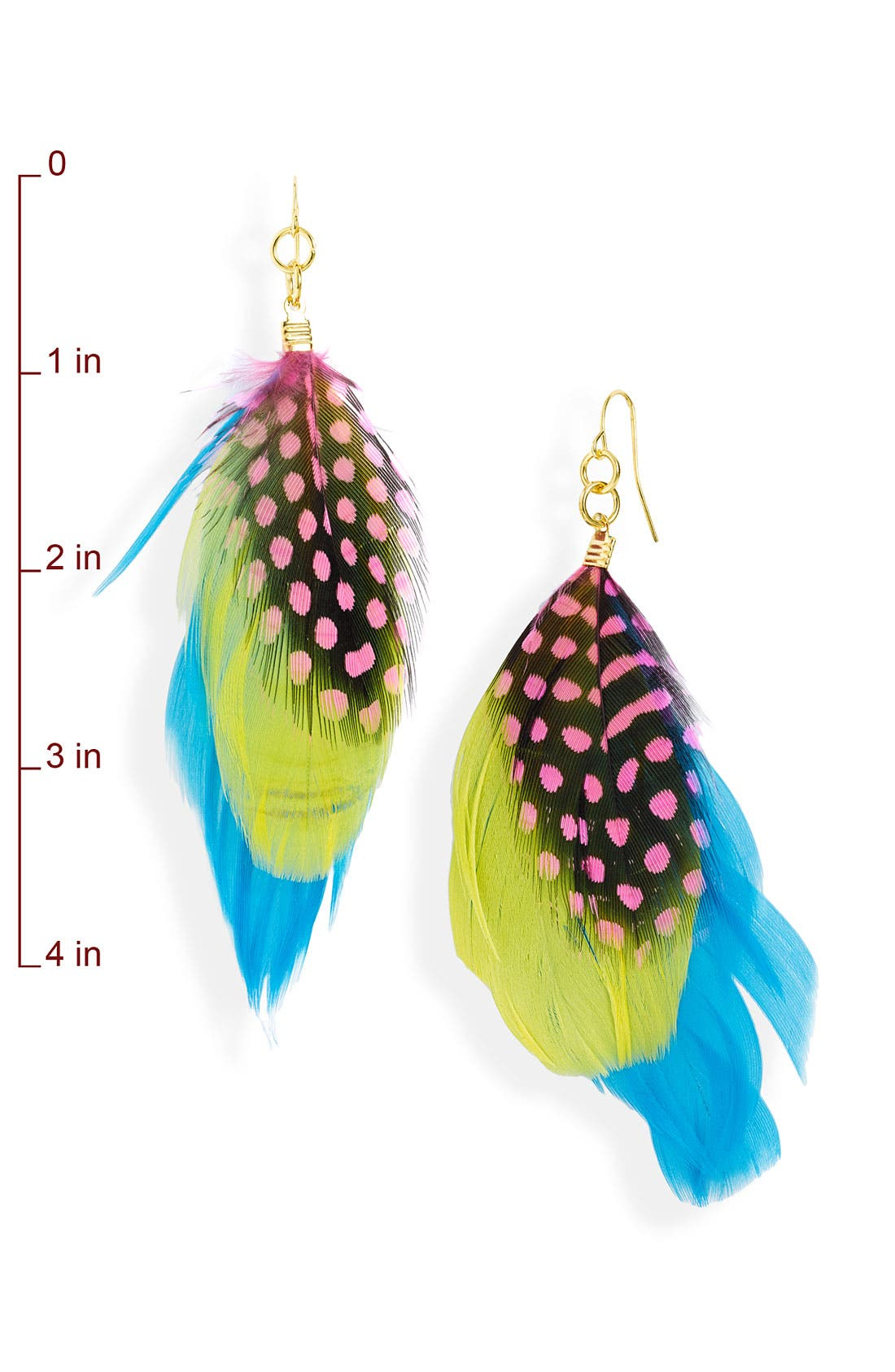 Alternate Image 2  - Stephan & Co. Feather Earrings