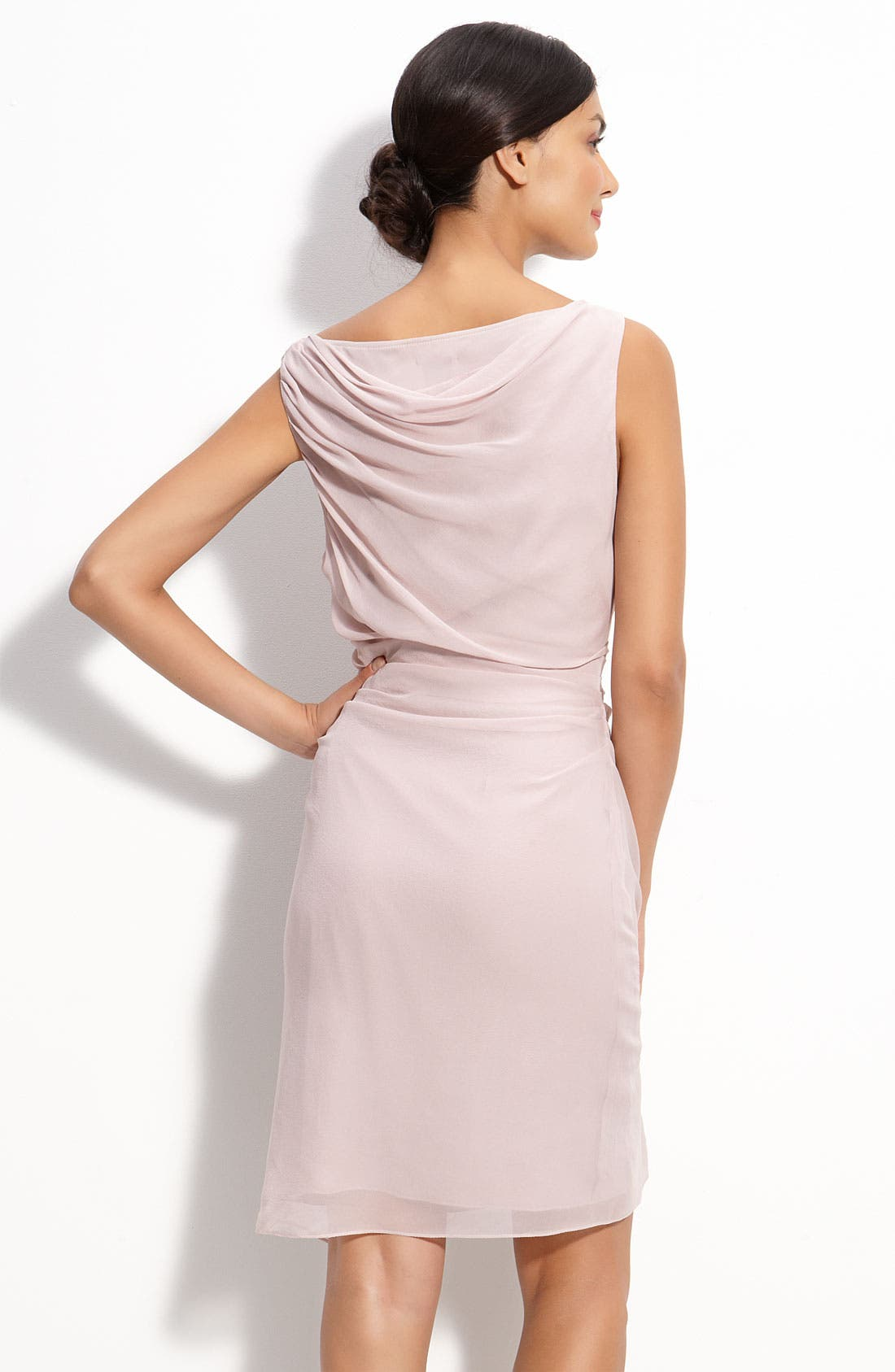 Alternate Image 2  - Suzi Chin for Maggy Boutique Draped Chiffon Sheath Dress