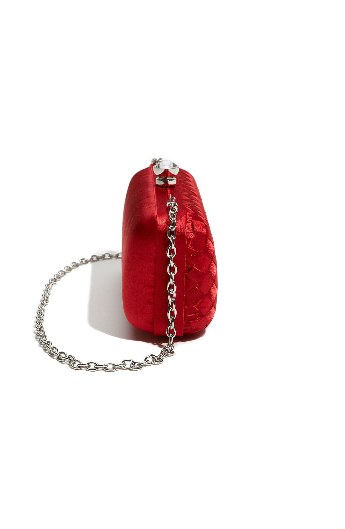 Alternate Image 2  - Expressions NYC Woven Satin Minaudiere Clutch