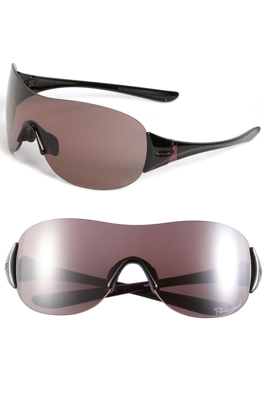 Alternate Image 1 Selected - Oakley 'Miss Conduct™' Polarized Rimless Shield Sunglasses