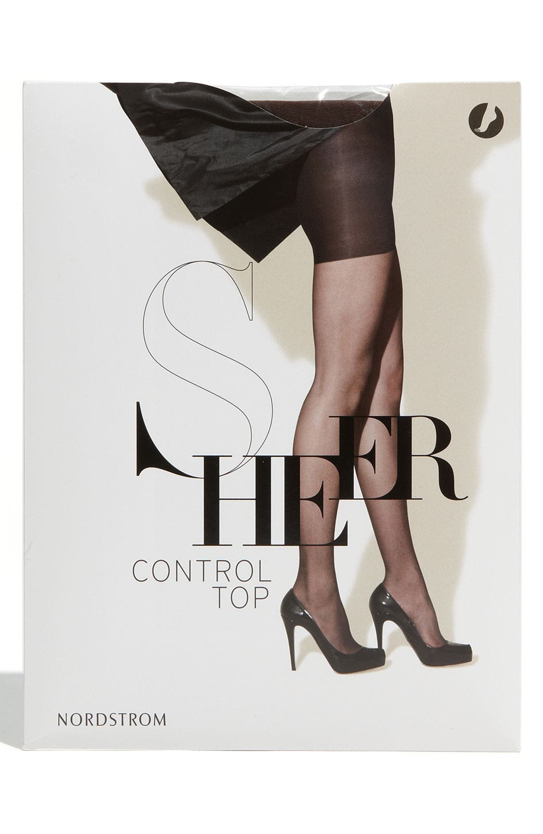 Alternate Image 1 Selected - Nordstrom Sheer Control Top Pantyhose with Reinforced Toe