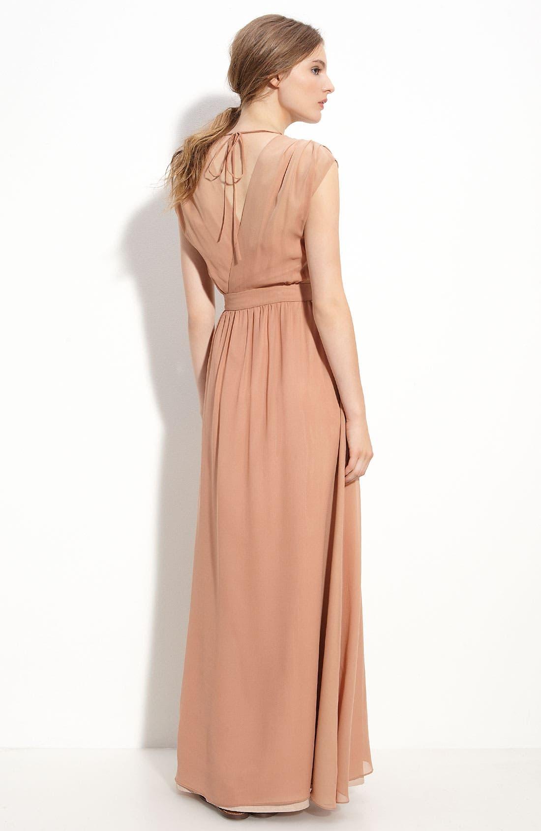 Alternate Image 2  - Paper Crown 'Clementine' Silk Dress