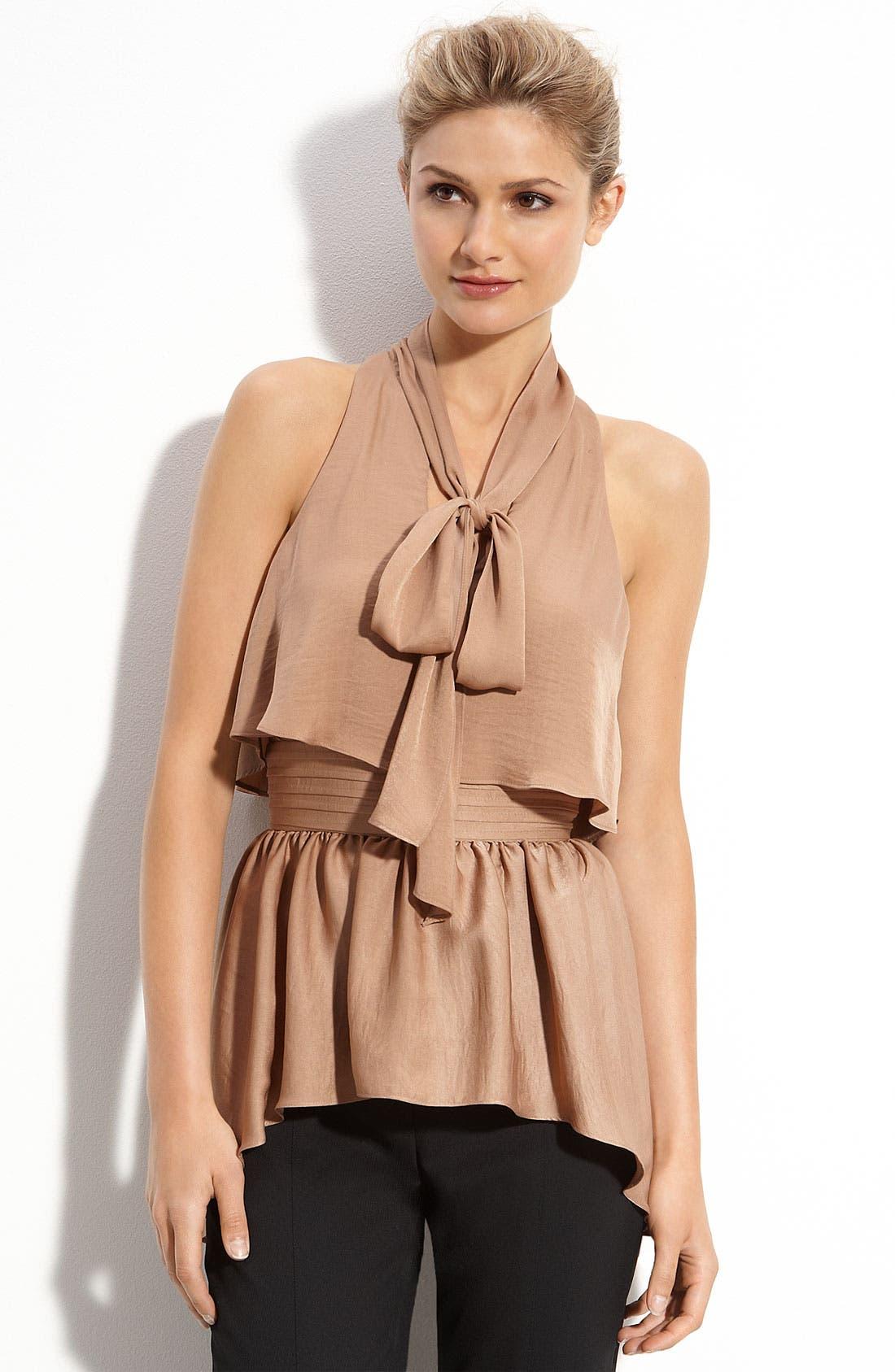 Alternate Image 1 Selected - BCBGMAXAZRIA 'Celline' Tie Neck Top