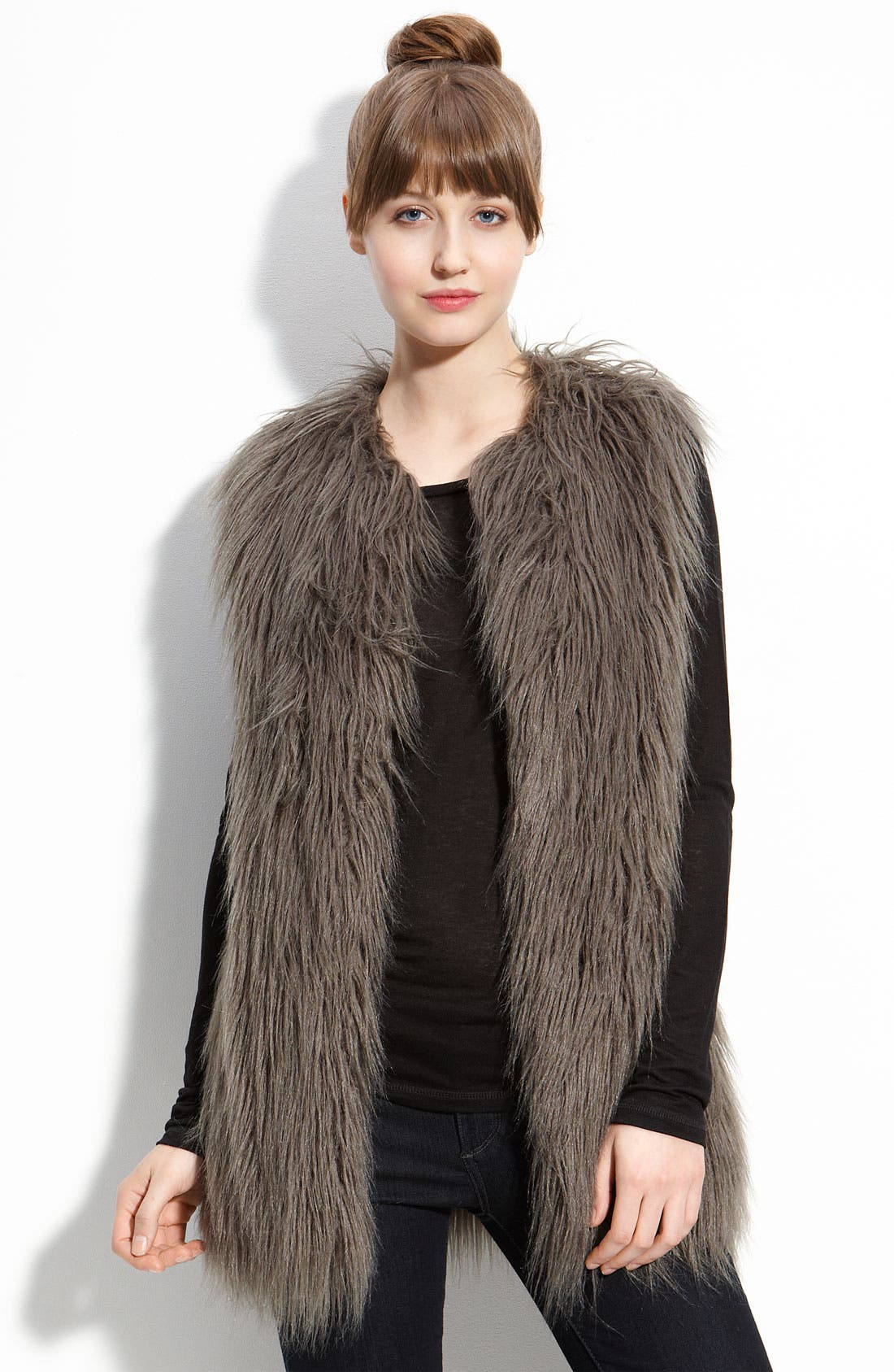 Main Image - Hawke & Co. Faux Fur Vest (Nordstrom Exclusive)