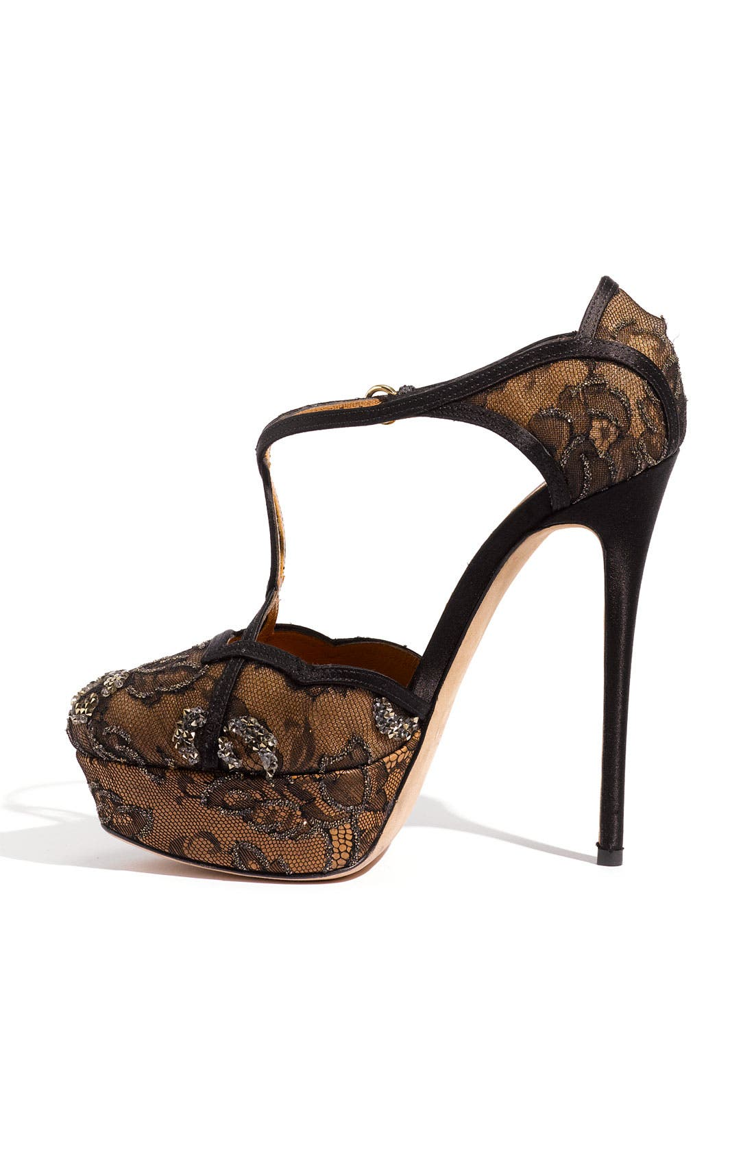 Alternate Image 2  - Valentino Crystal Embellished Lace Sandal