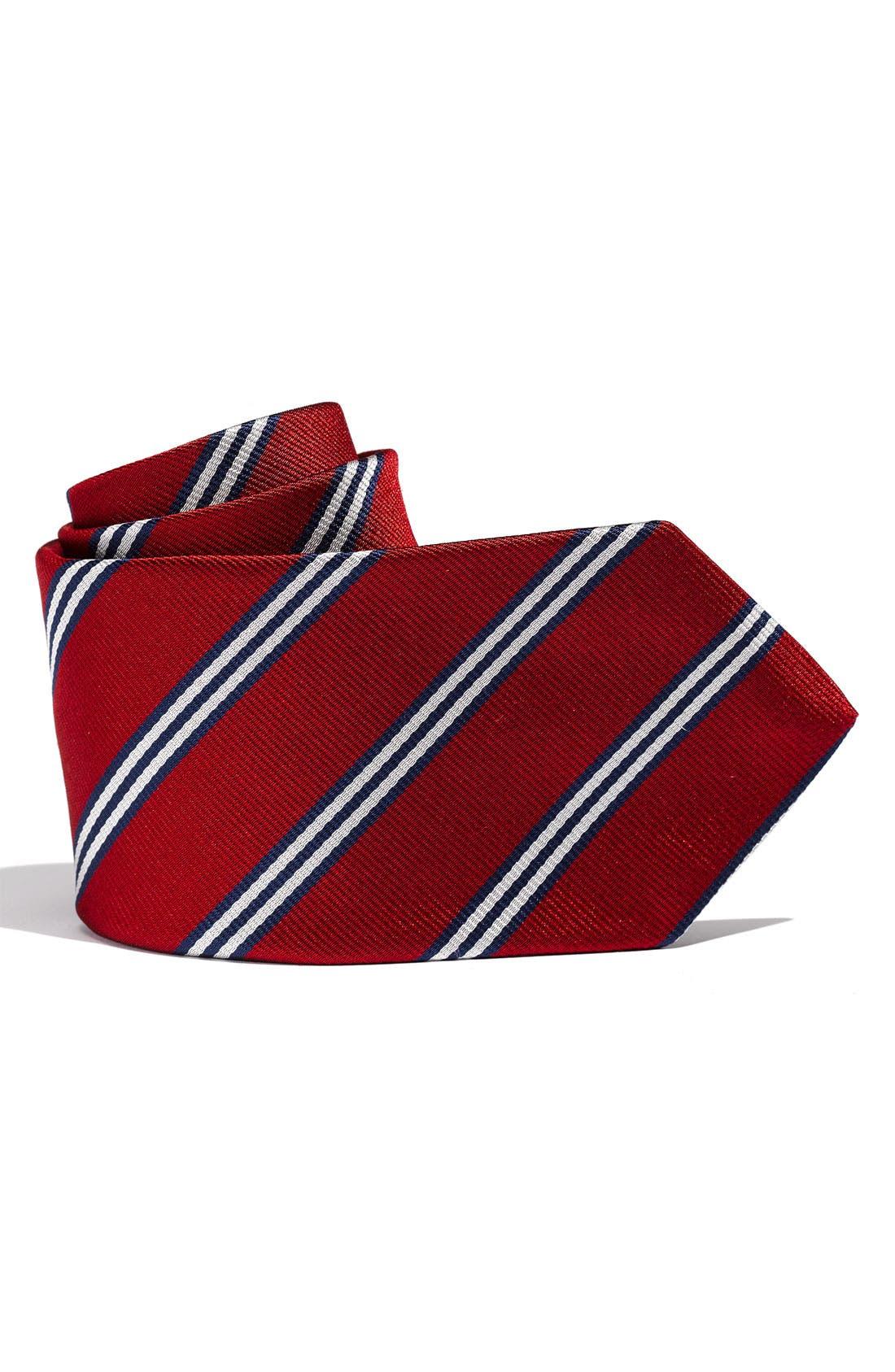 Main Image - Brooks Brothers Stripe Tie (Big Boys)