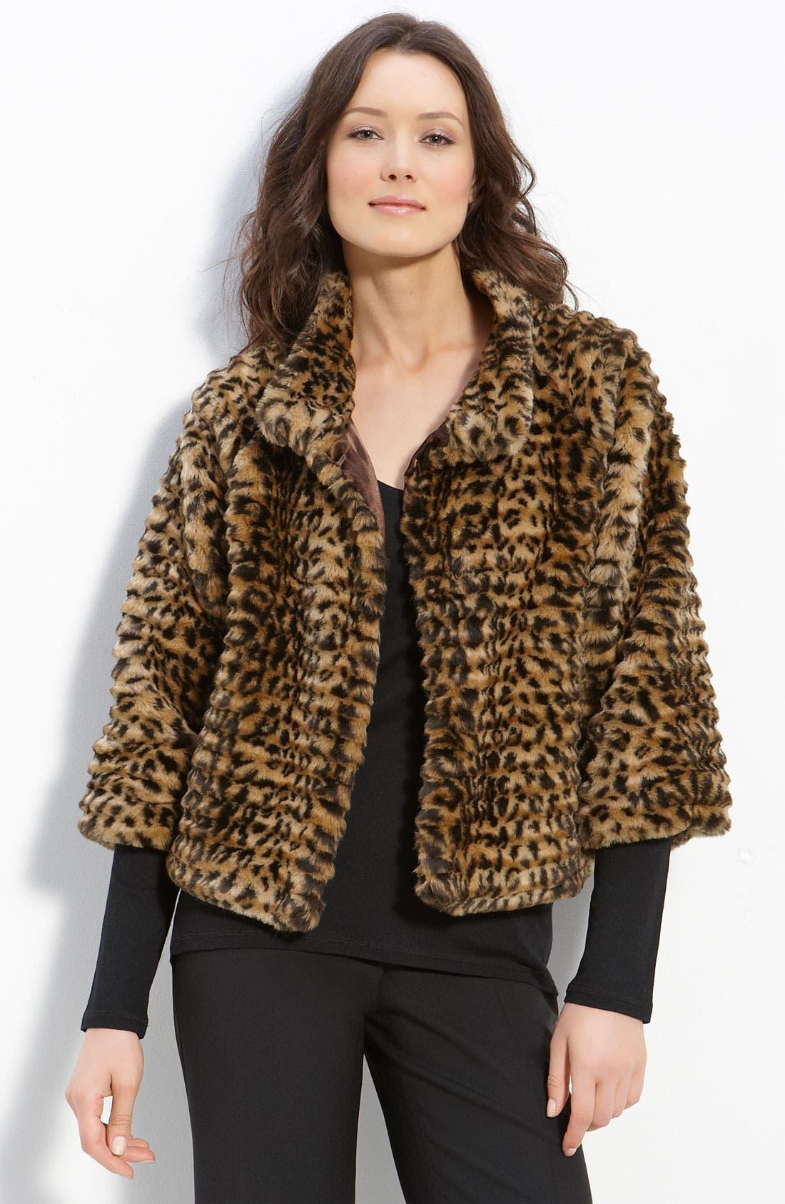 Alternate Image 1 Selected - Via Spiga 'Andrea' Faux Fur Jacket
