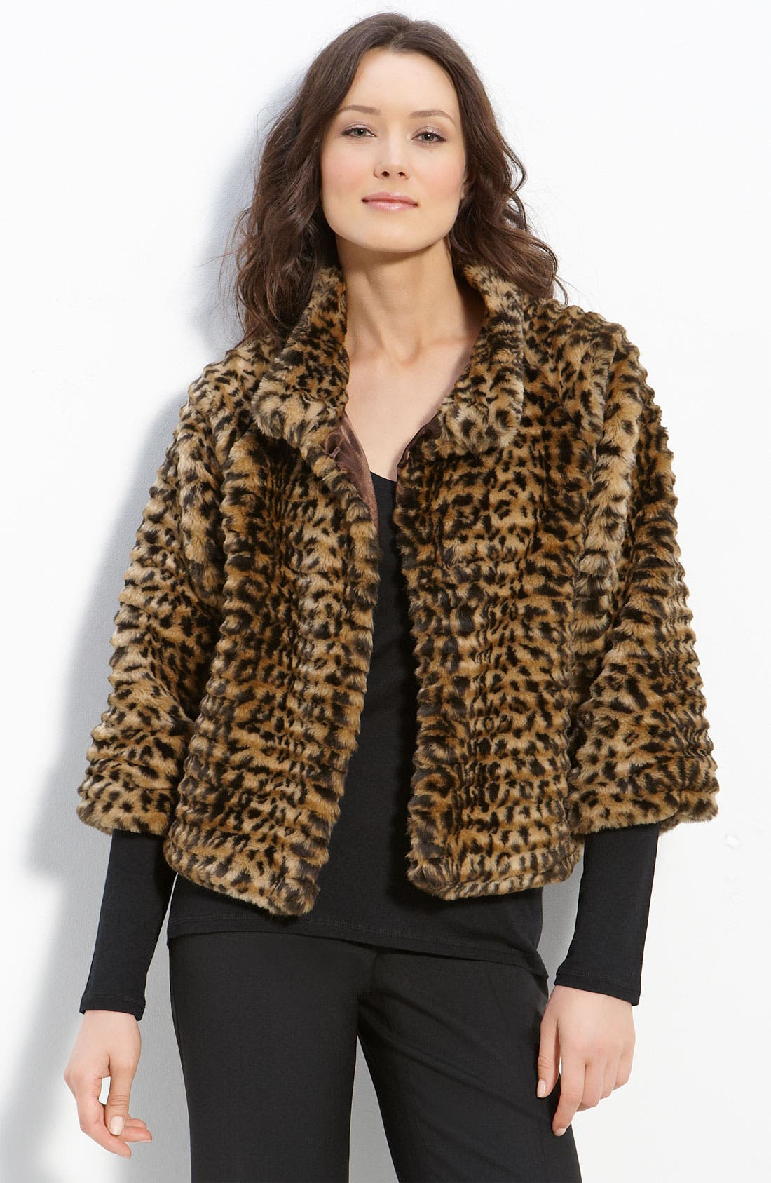 Main Image - Via Spiga 'Andrea' Faux Fur Jacket