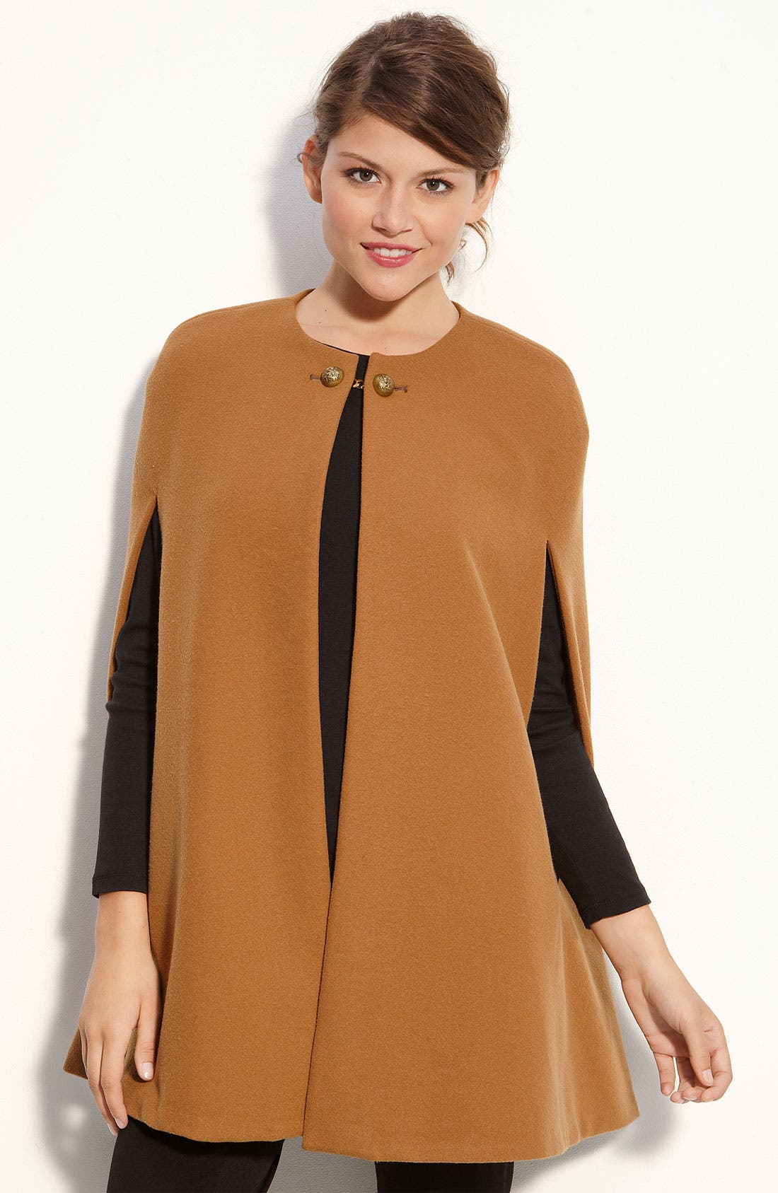 Alternate Image 1 Selected - Vince Camuto Button Neck Cape