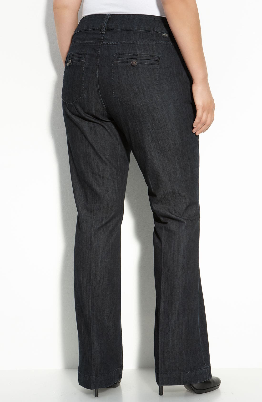 Alternate Image 1 Selected - Jag Jeans 'Adrienne' Trouser Jeans (Plus)