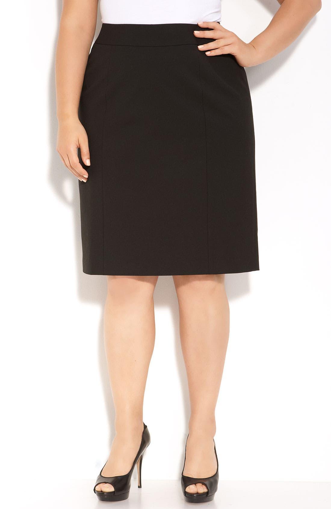 Alternate Image 1 Selected - Sejour 'Ela' Pencil Skirt (Plus)
