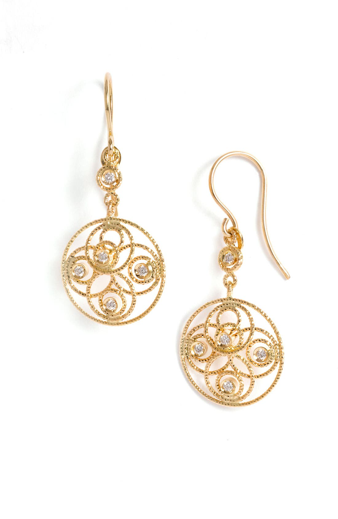 Alternate Image 1 Selected - Roberto Coin 'Moresque' Diamond Circle Earrings