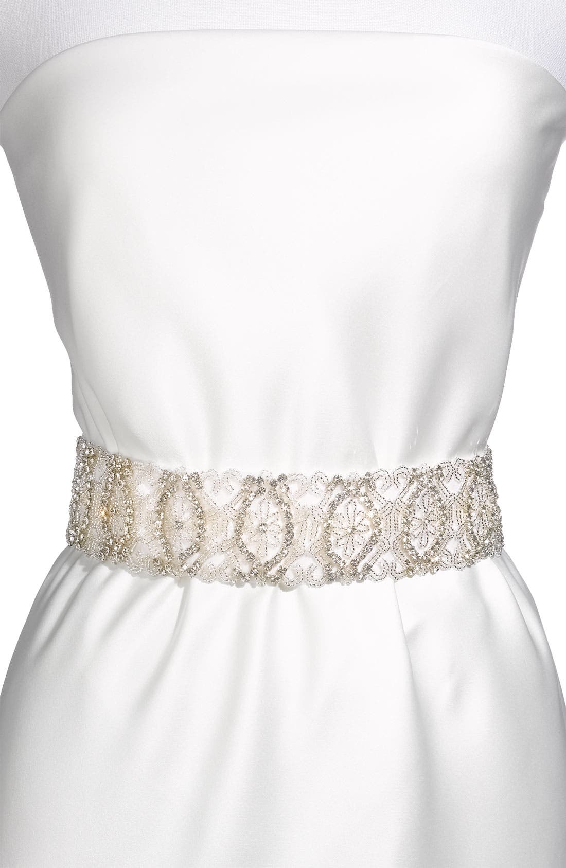 Main Image - Cara Beaded Bridal Belt