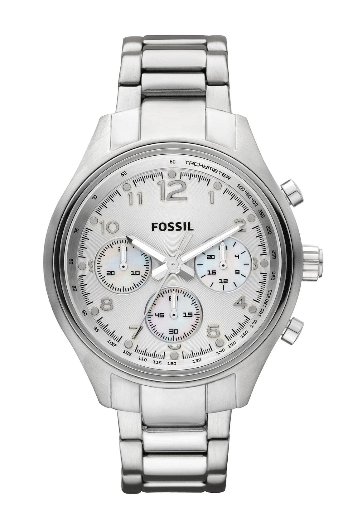 Alternate Image 1 Selected - Fossil 'Flight' Bracelet Watch