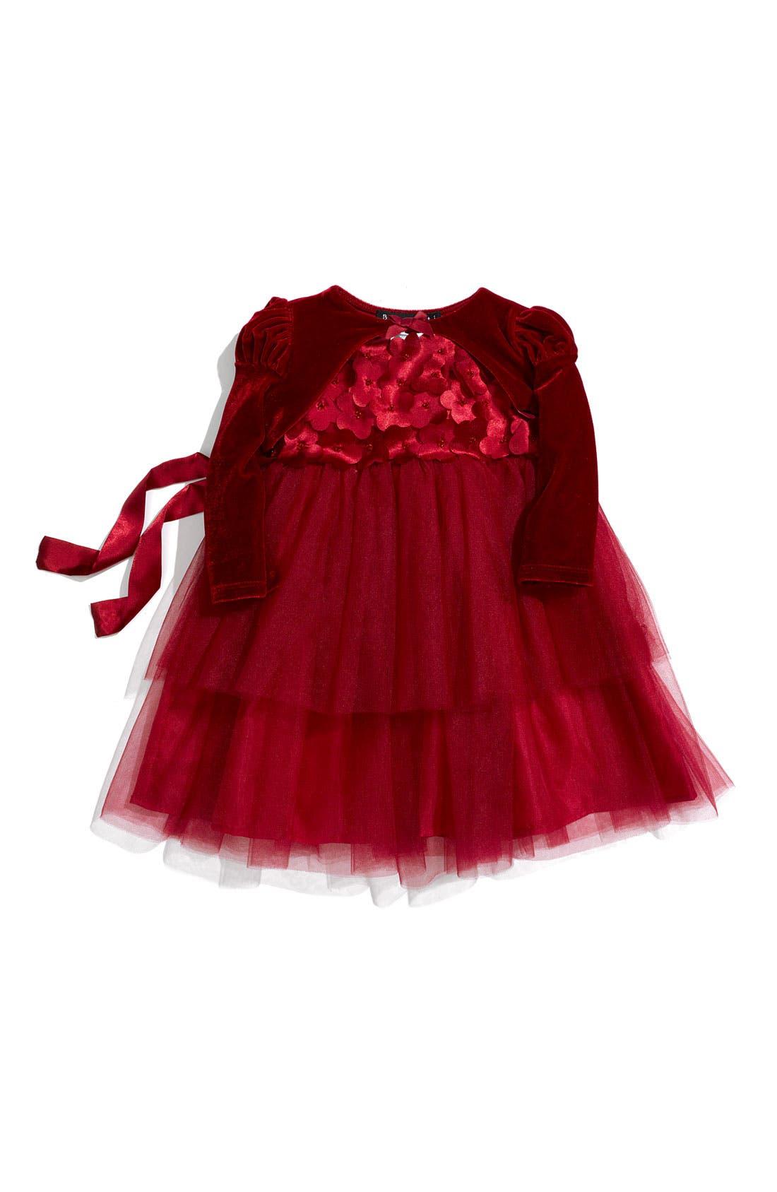 Alternate Image 1 Selected - Biscotti Dress & Shrug (Infant)