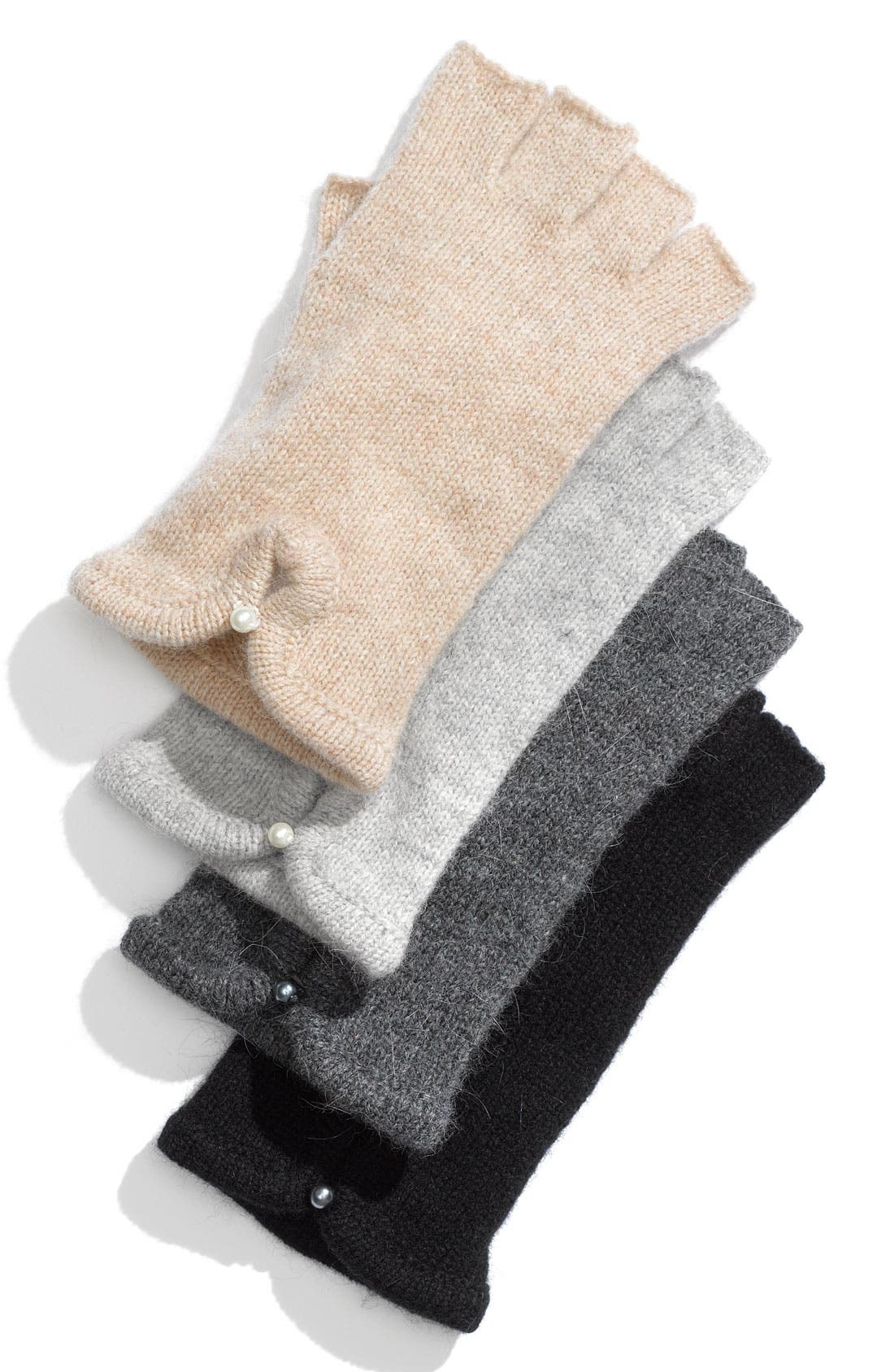 Alternate Image 1 Selected - Laundry by Shelli Segal Pearl Cuff Fingerless Gloves