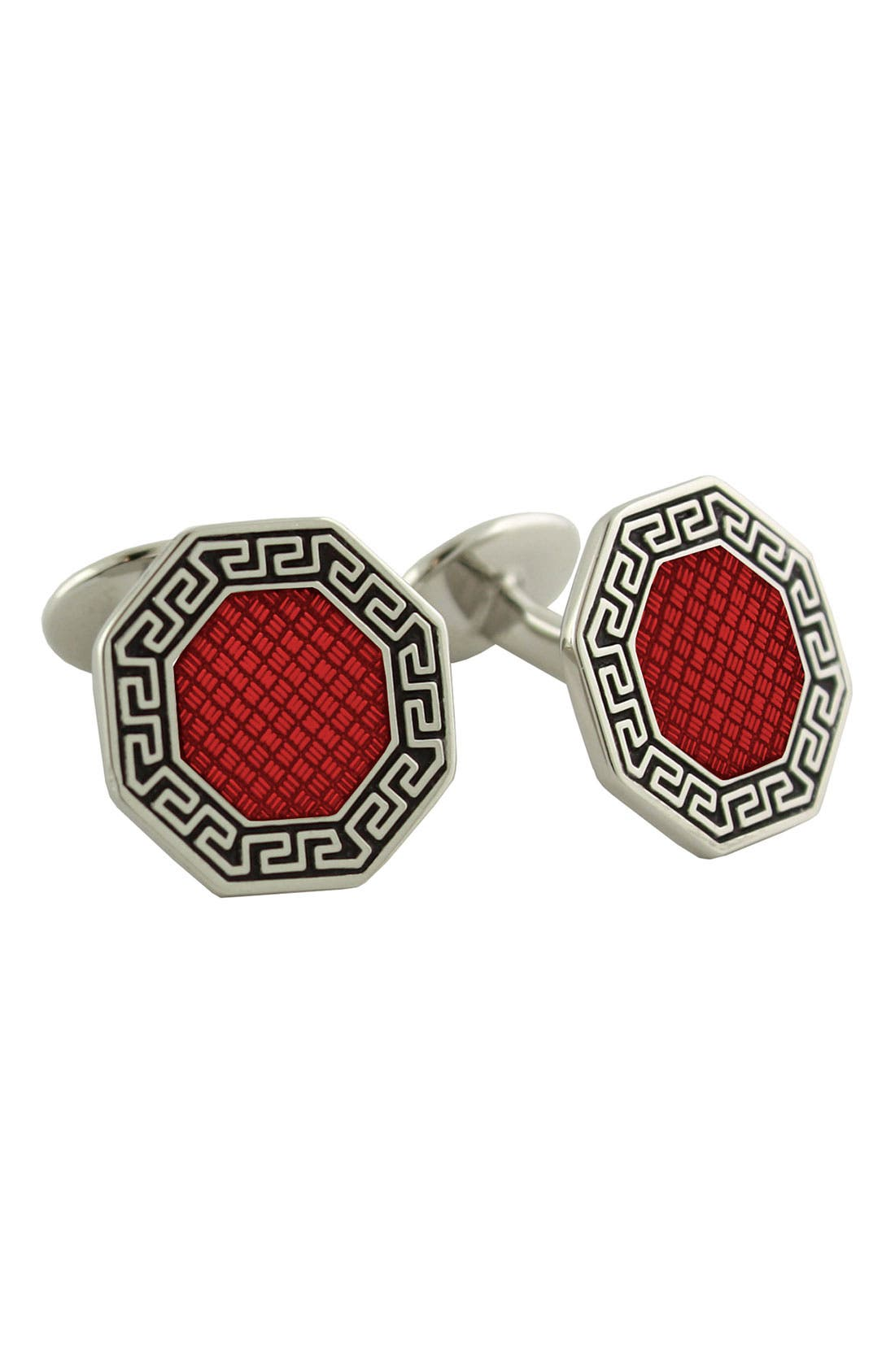 Main Image - David Donahue 'Wine' Octagonal Sterling Silver Cuff Links