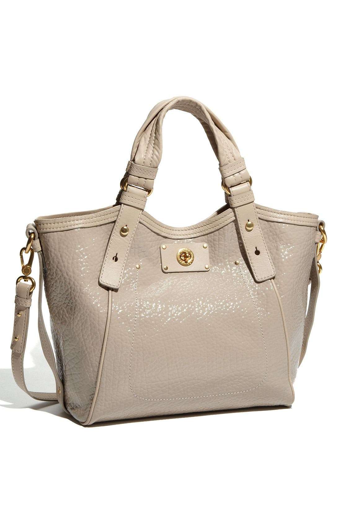 Main Image - MARC BY MARC JACOBS 'Turnlock Shine Fran - Small' Patent Tote