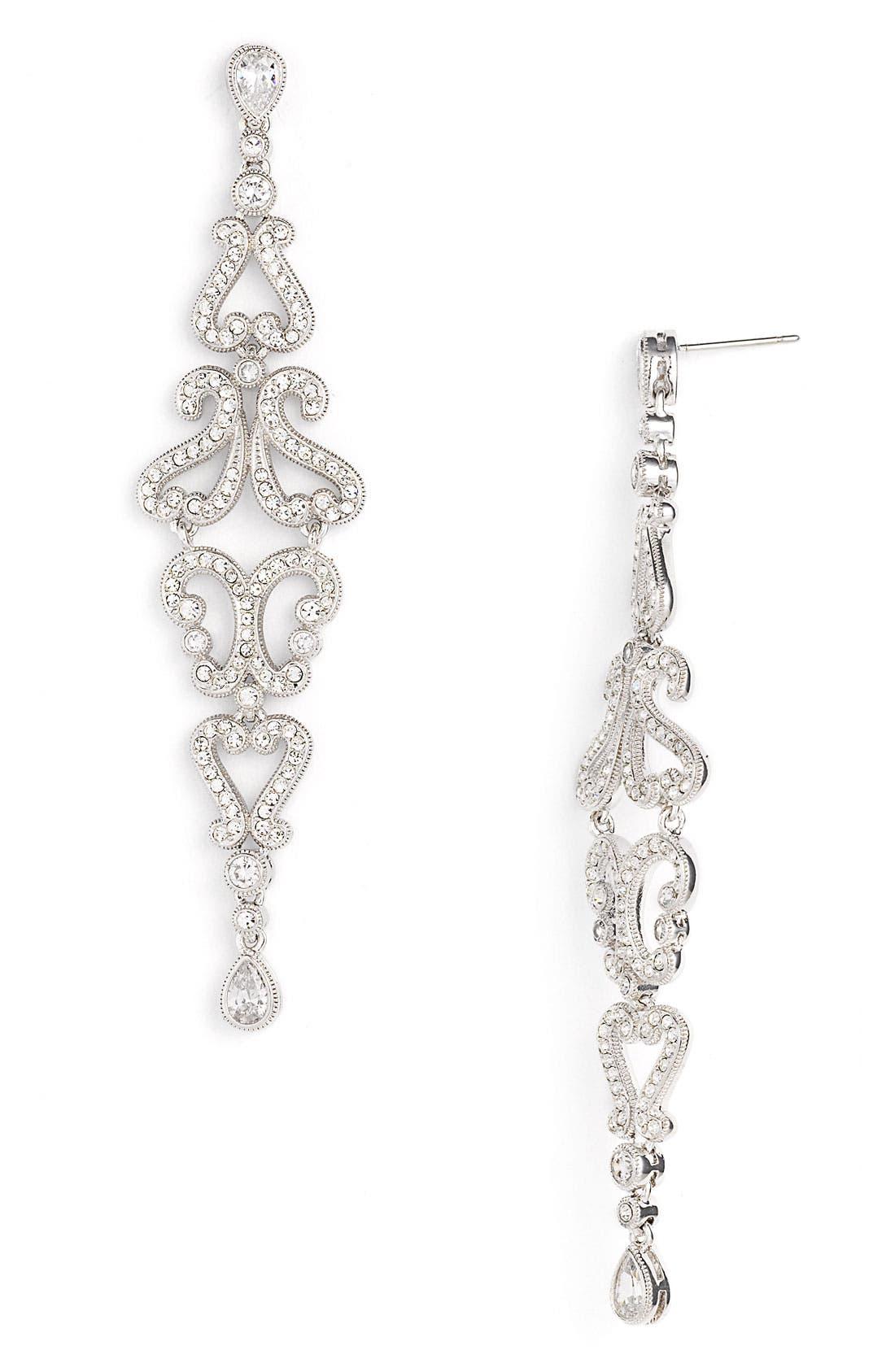 Main Image - Nadri Linear Filigree Earrings (Nordstrom Exclusive)