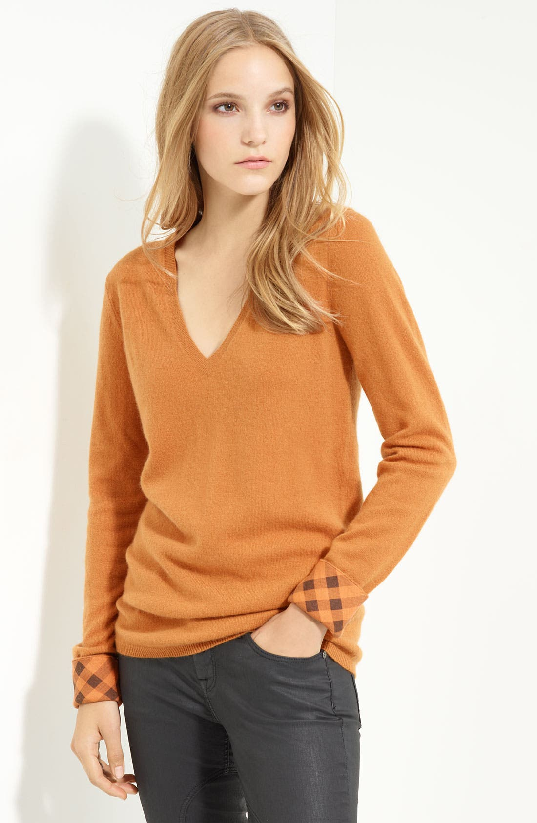 Alternate Image 1 Selected - Burberry Brit V-Neck Cashmere Sweater