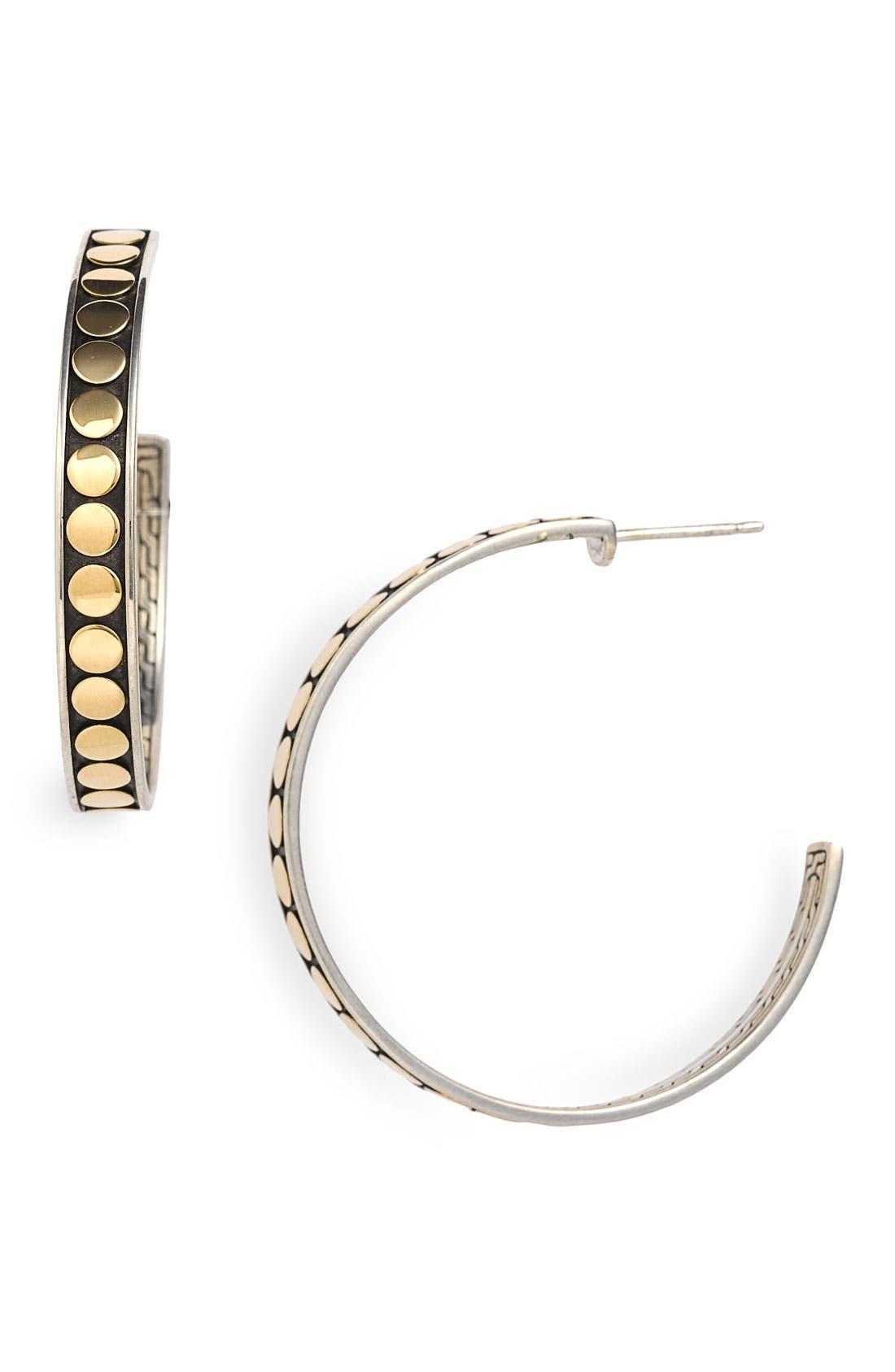Alternate Image 1 Selected - John Hardy 'Dot Deco' Slim Hoop Earrings