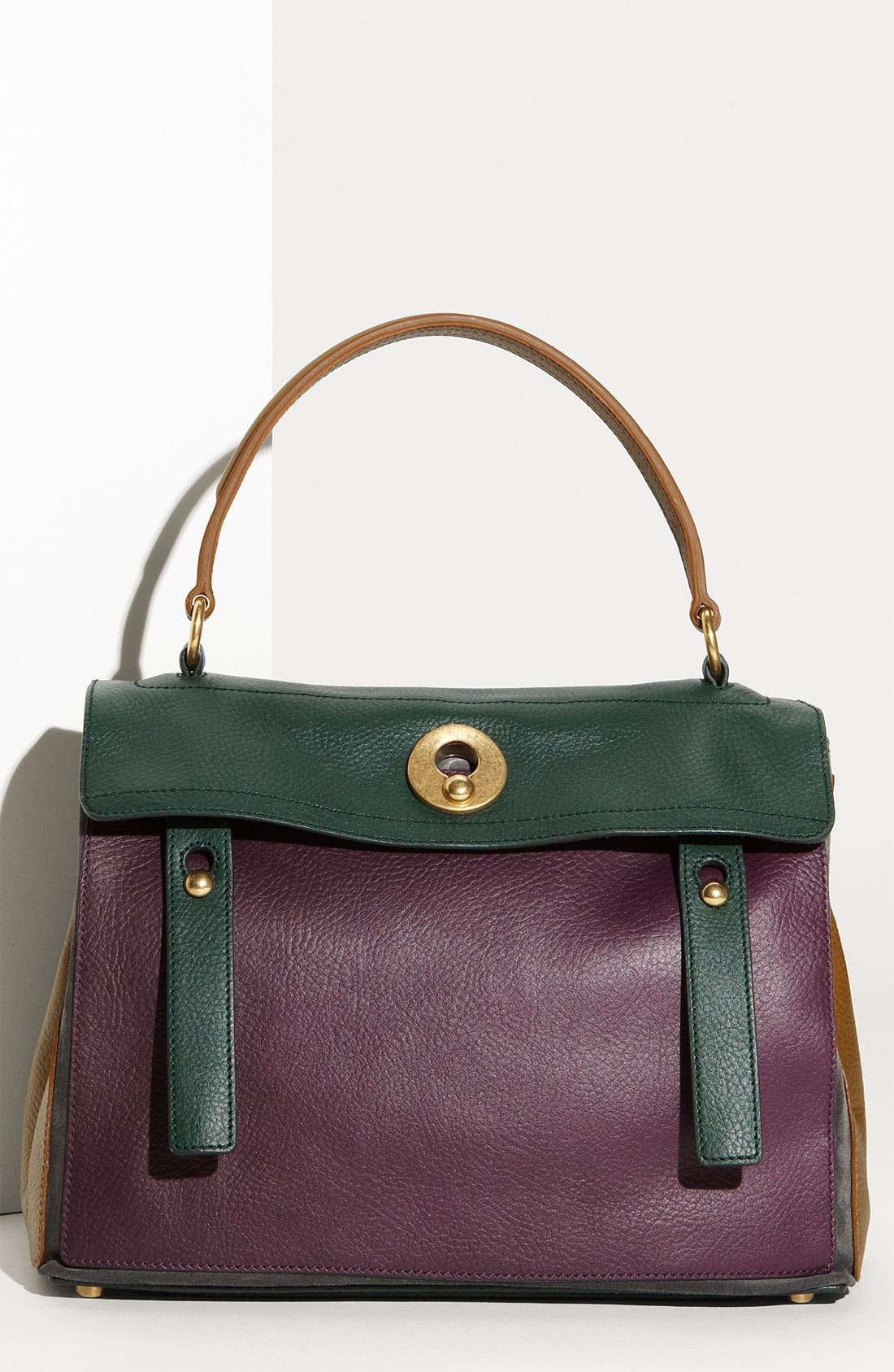 Alternate Image 1 Selected - Yves Saint Laurent 'Muse Two' Leather & Suede Satchel