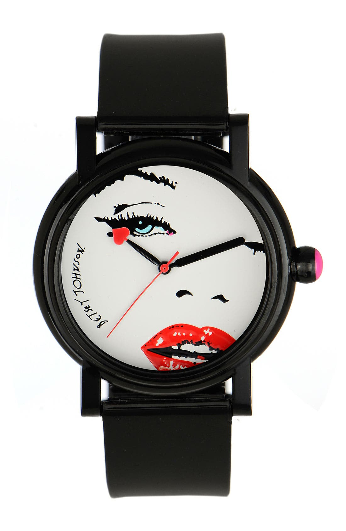 Alternate Image 1 Selected - Betsey Johnson 'Lots 'n' Lots of Time' Face Dial Watch
