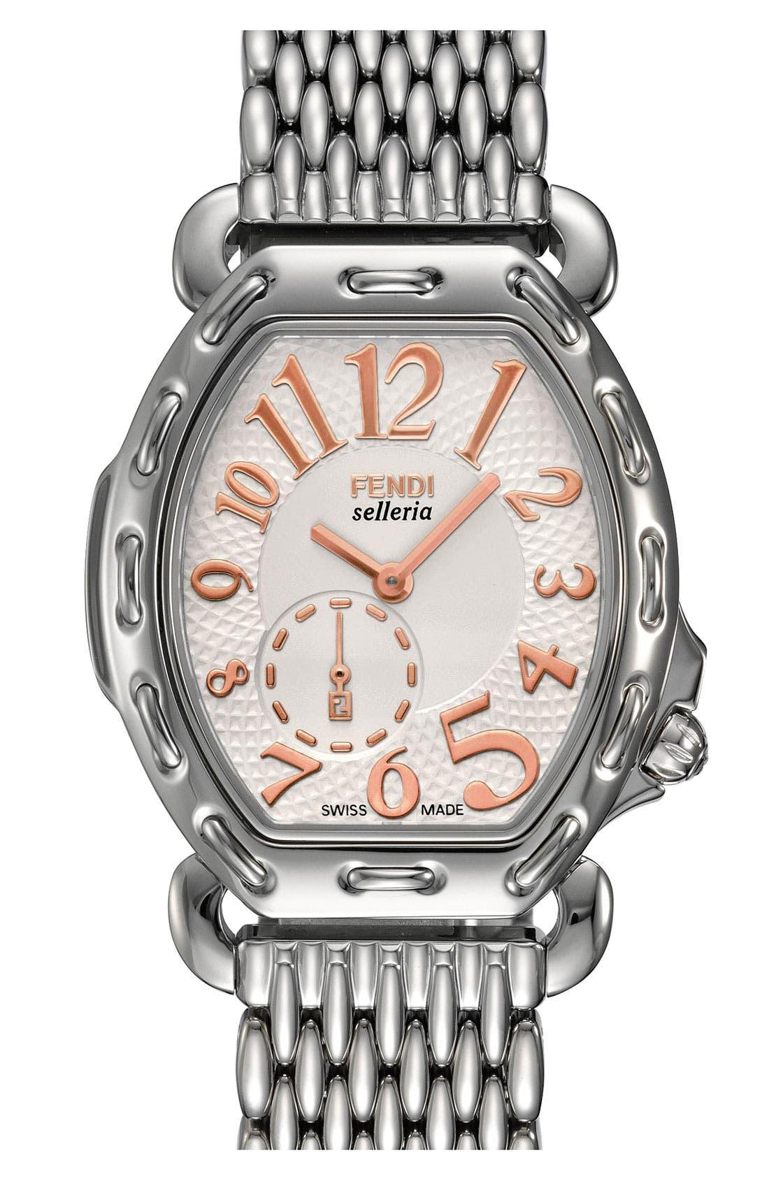 Alternate Image 2  - Fendi 'Selleria' Tonneau Watch Case, 33mm x 38mm
