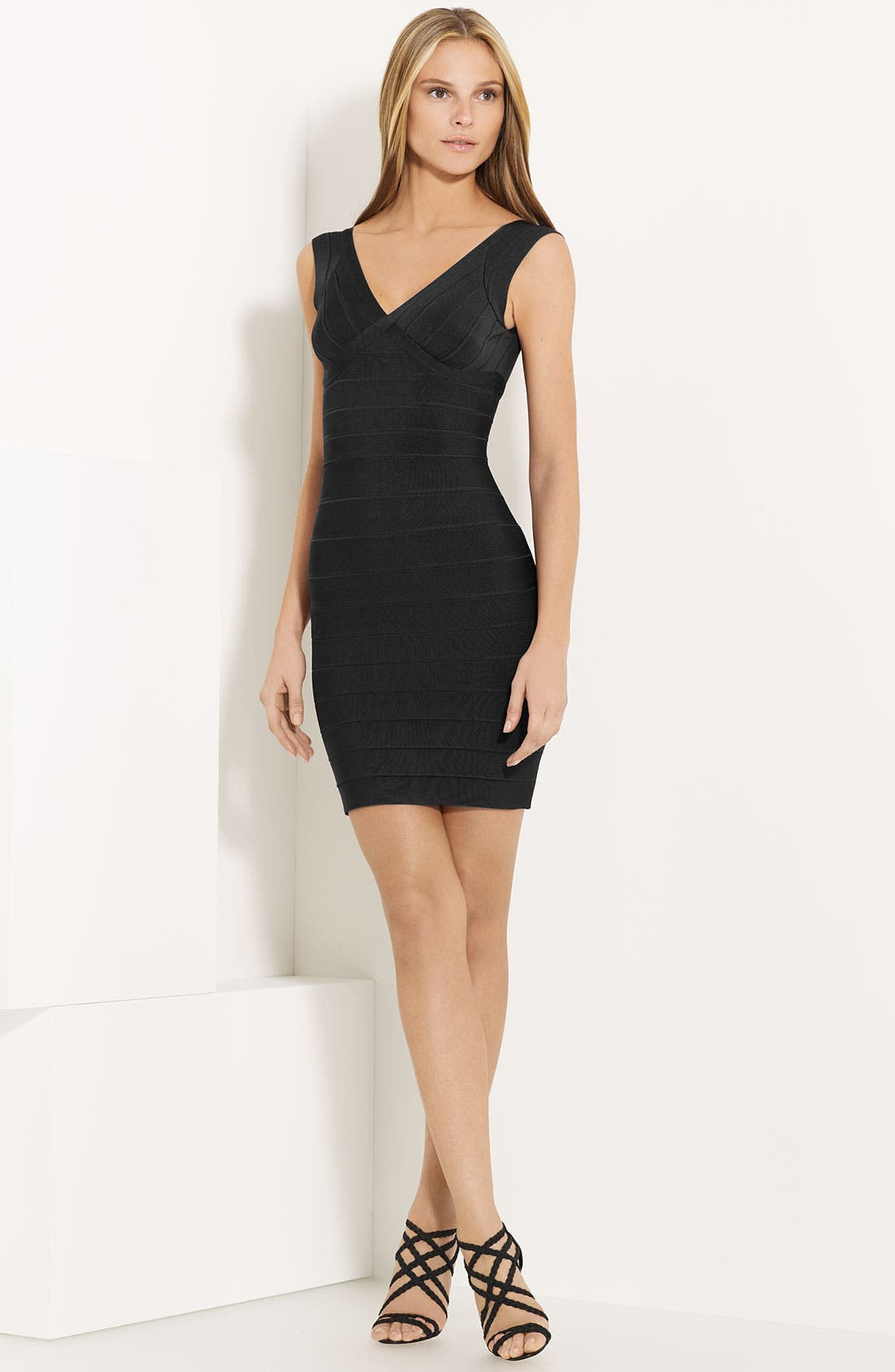 Main Image - Herve Leger V-Neck Bandage Dress