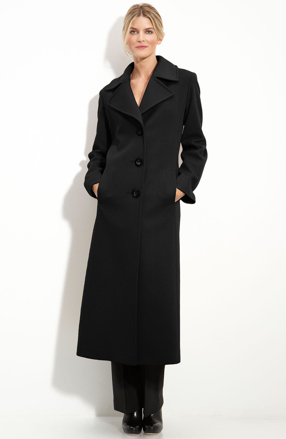Main Image - Fleurette Single Breasted Wool Coat