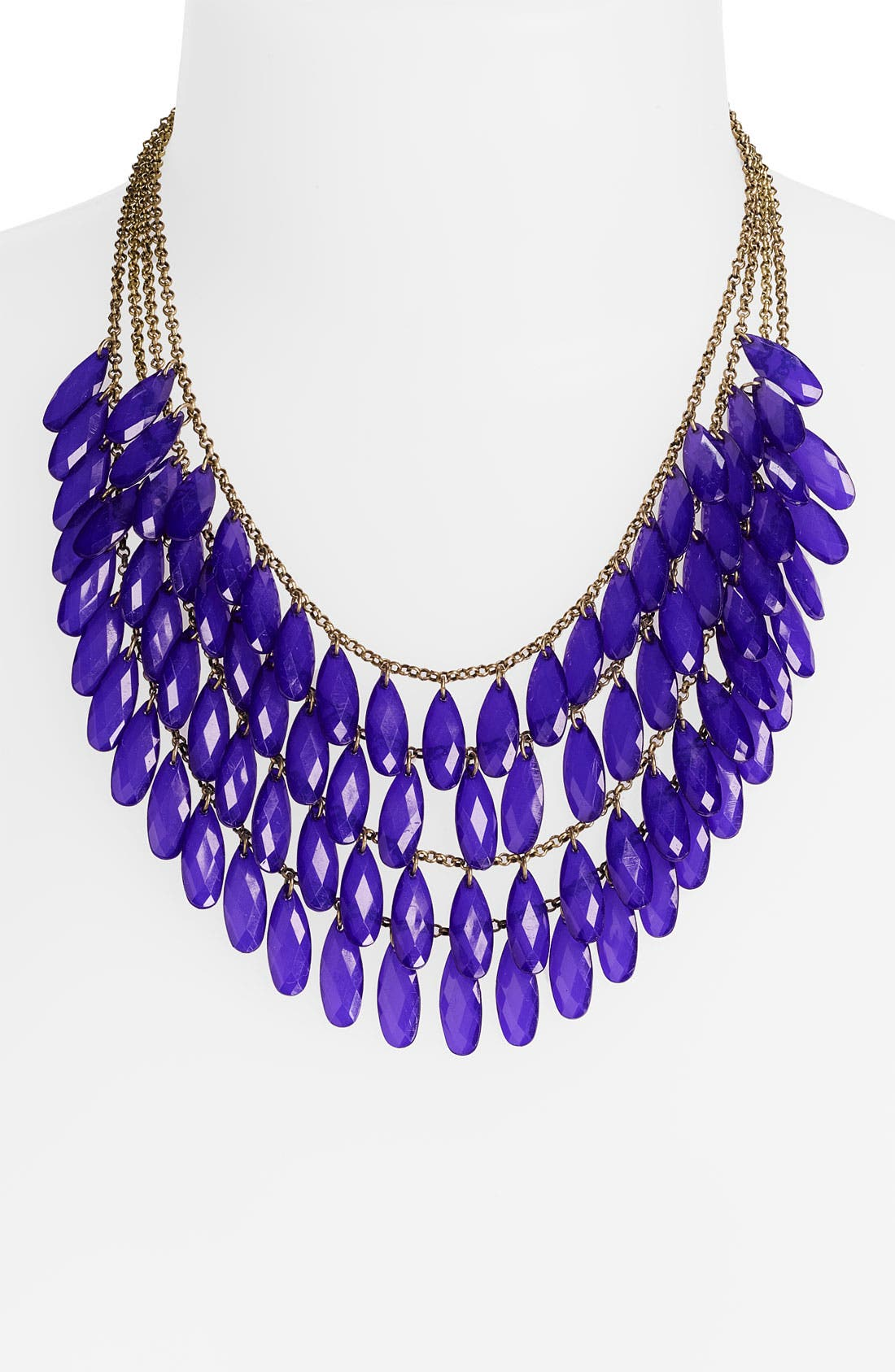 Alternate Image 1 Selected - Carole Layered Teardrop Statement Necklace (Online Only)