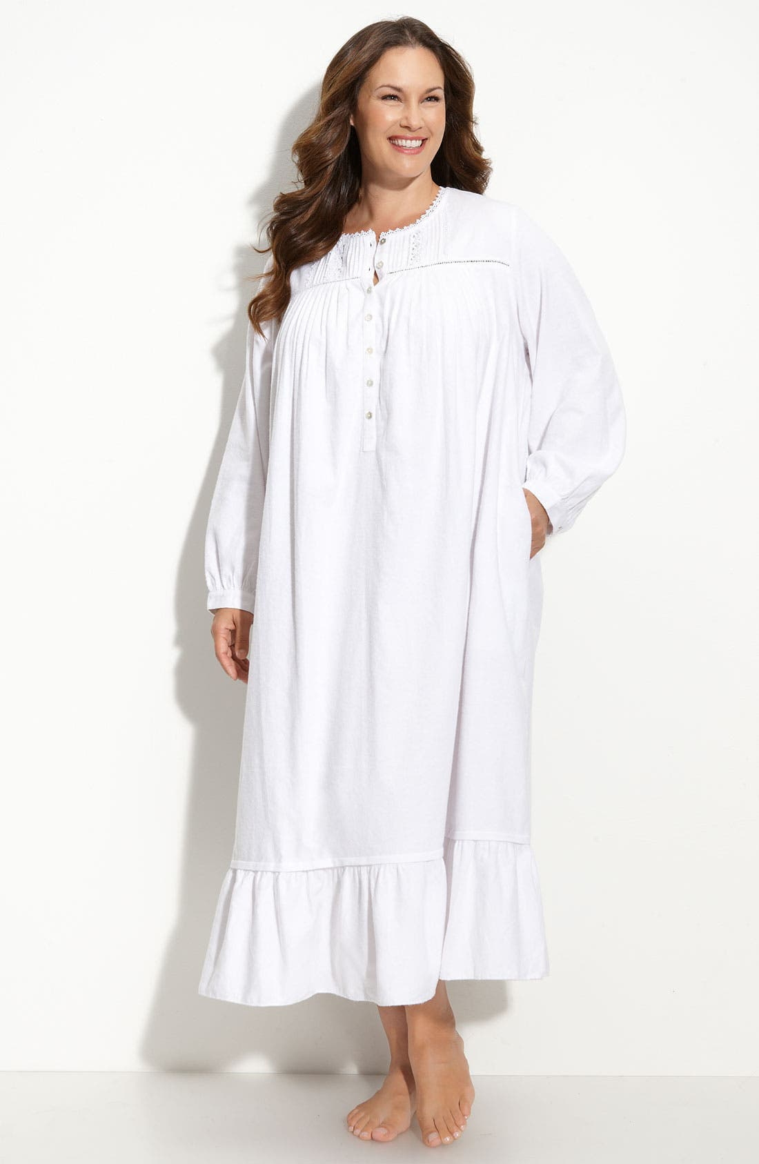 Alternate Image 1 Selected - Eileen West 'Snow Queen' Flannel Nightgown (Plus)