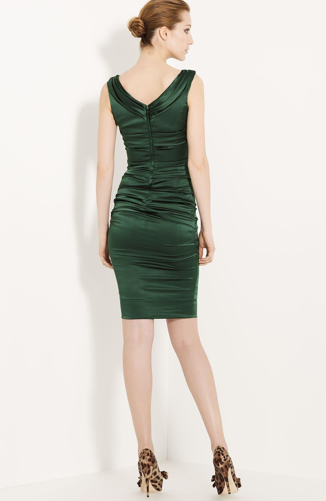 Alternate Image 2  - Dolce&Gabbana Ruched Satin Dress