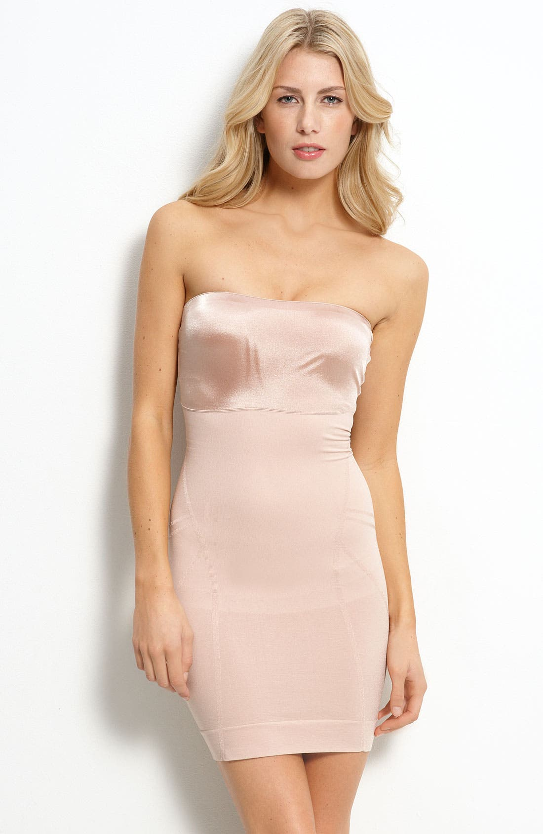 Alternate Image 1 Selected - SPANX® 'Slimmer & Shine' Strapless Shaping Slip