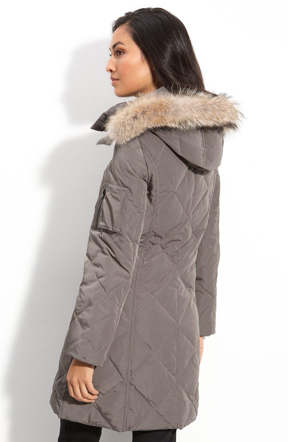Alternate Image 2  - Sachi Fur Trim Hooded Down Coat