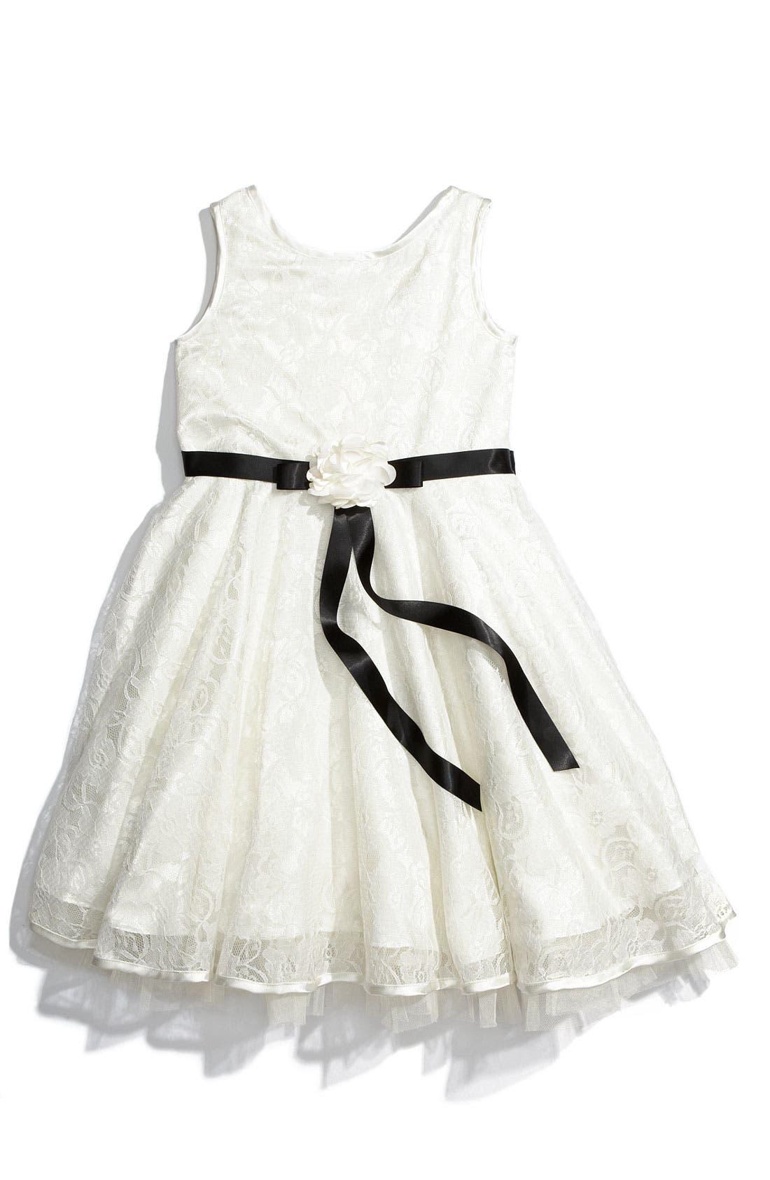 Main Image - Sweet Heart Rose Sleeveless Dress (Little Girls)