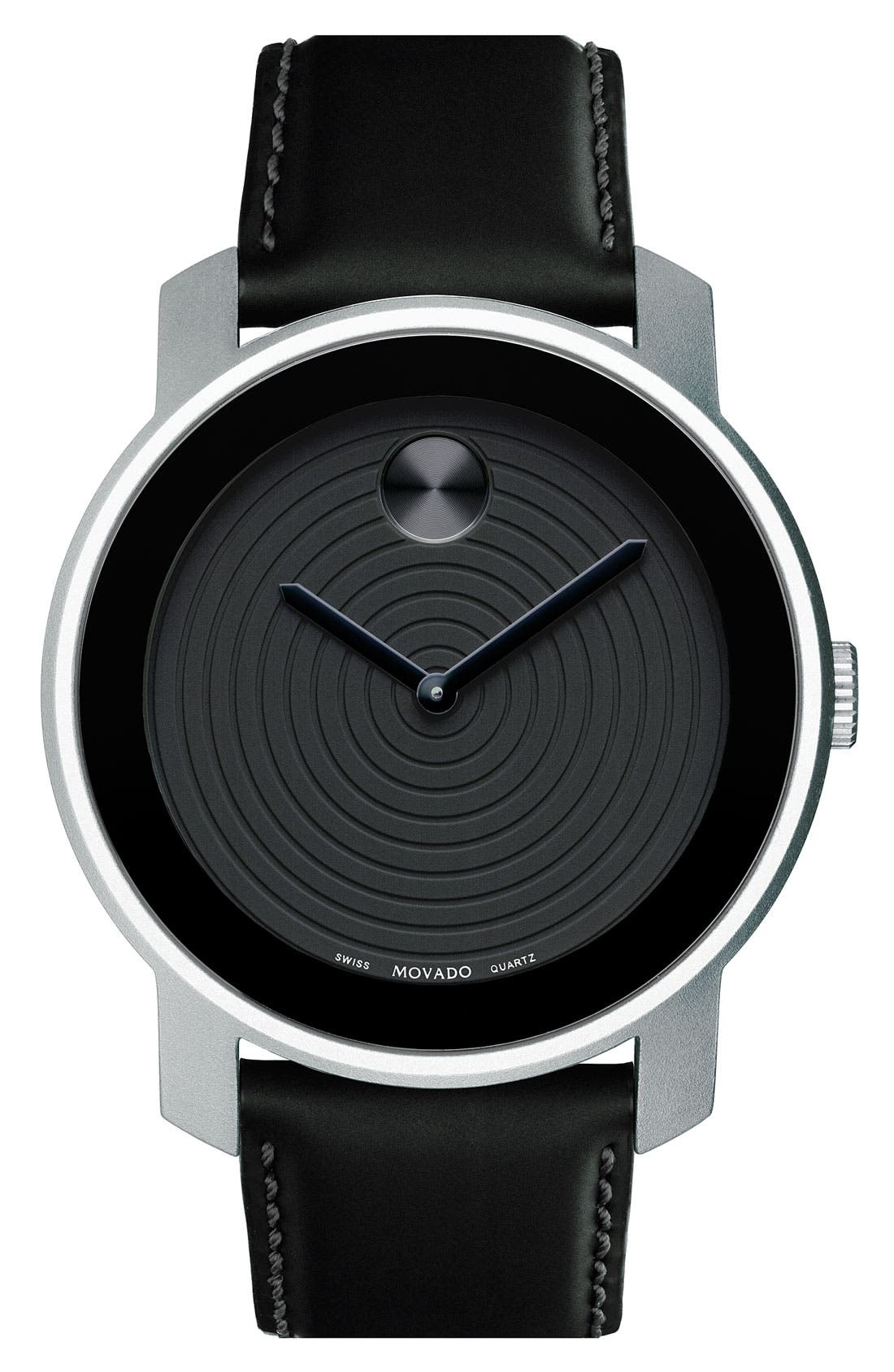 Alternate Image 1 Selected - Movado 'Large Bold' Aluminum Case Watch