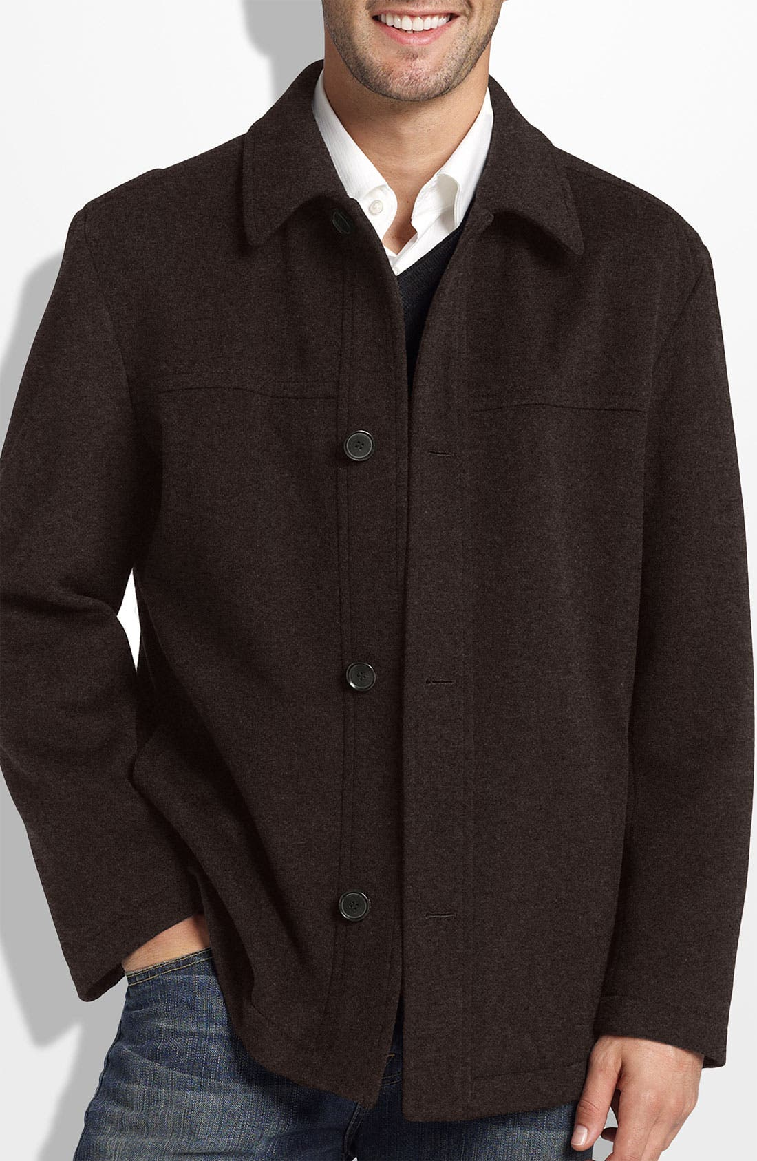 Alternate Image 1 Selected - BOSS Black 'Chester' Regular Fit Wool Blend Coat