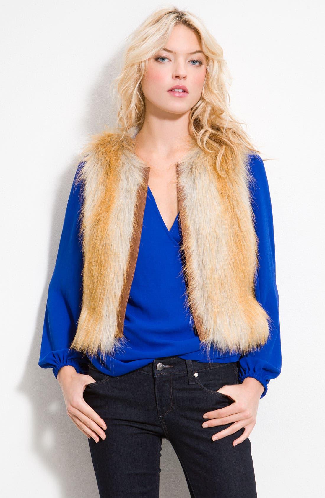 Alternate Image 1 Selected - Sanctuary Faux Fur Vest