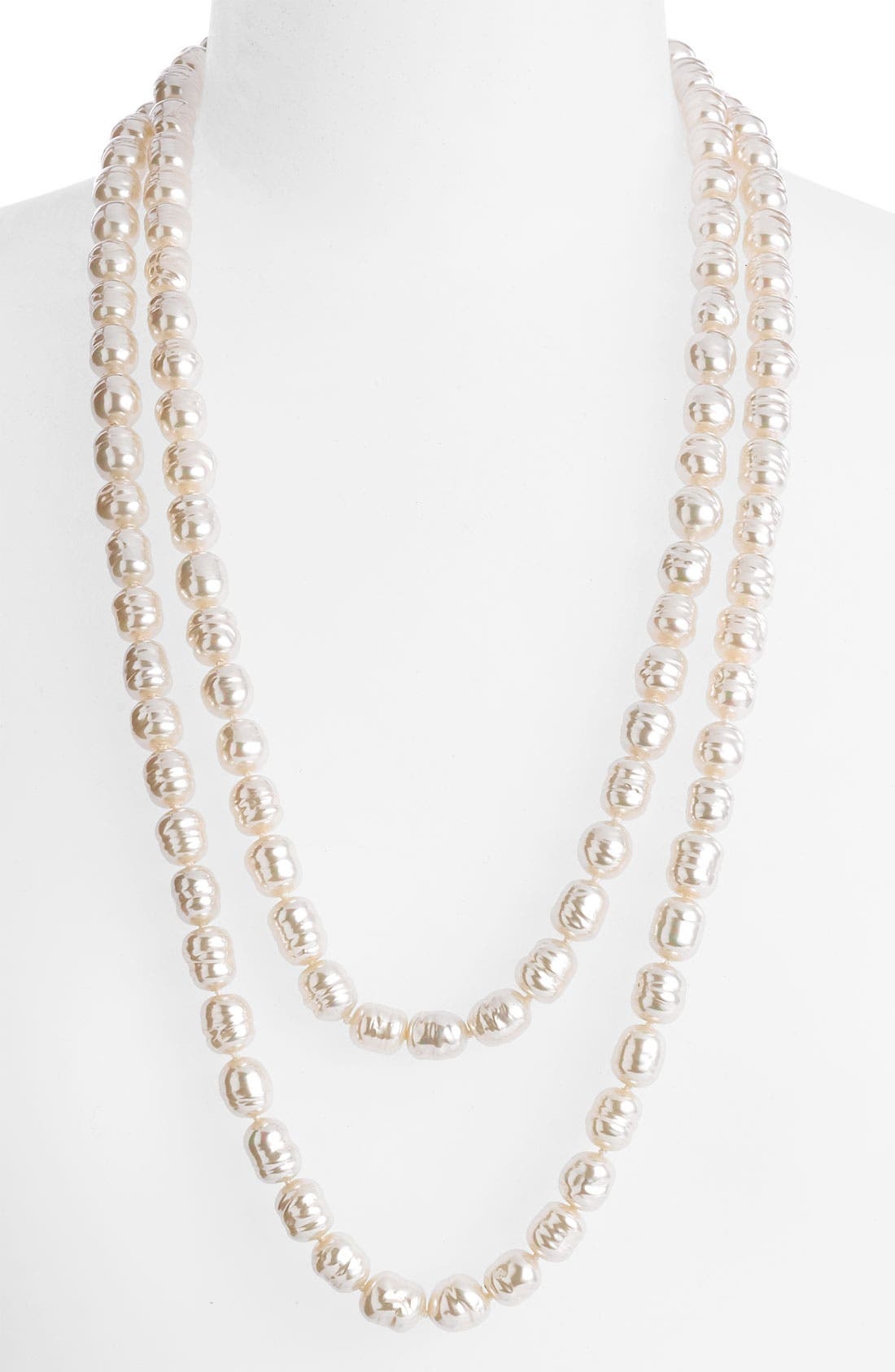 Main Image - Majorica 10mm Baroque Pearl Endless Rope Necklace