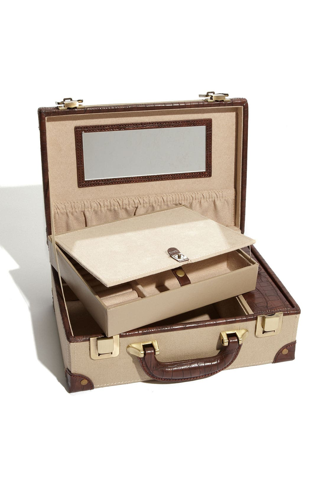 Alternate Image 2  - Nordstrom LusterLoc™ Canvas Jewelry Suitcase