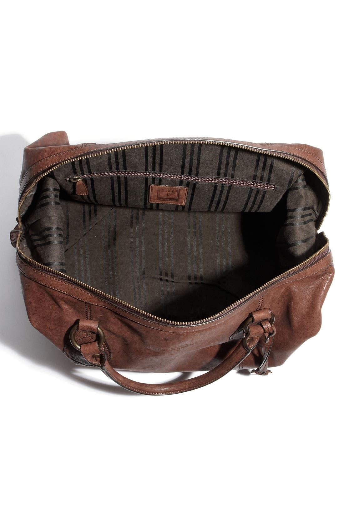 Alternate Image 3  - Frye 'Logan' Leather Overnight Bag