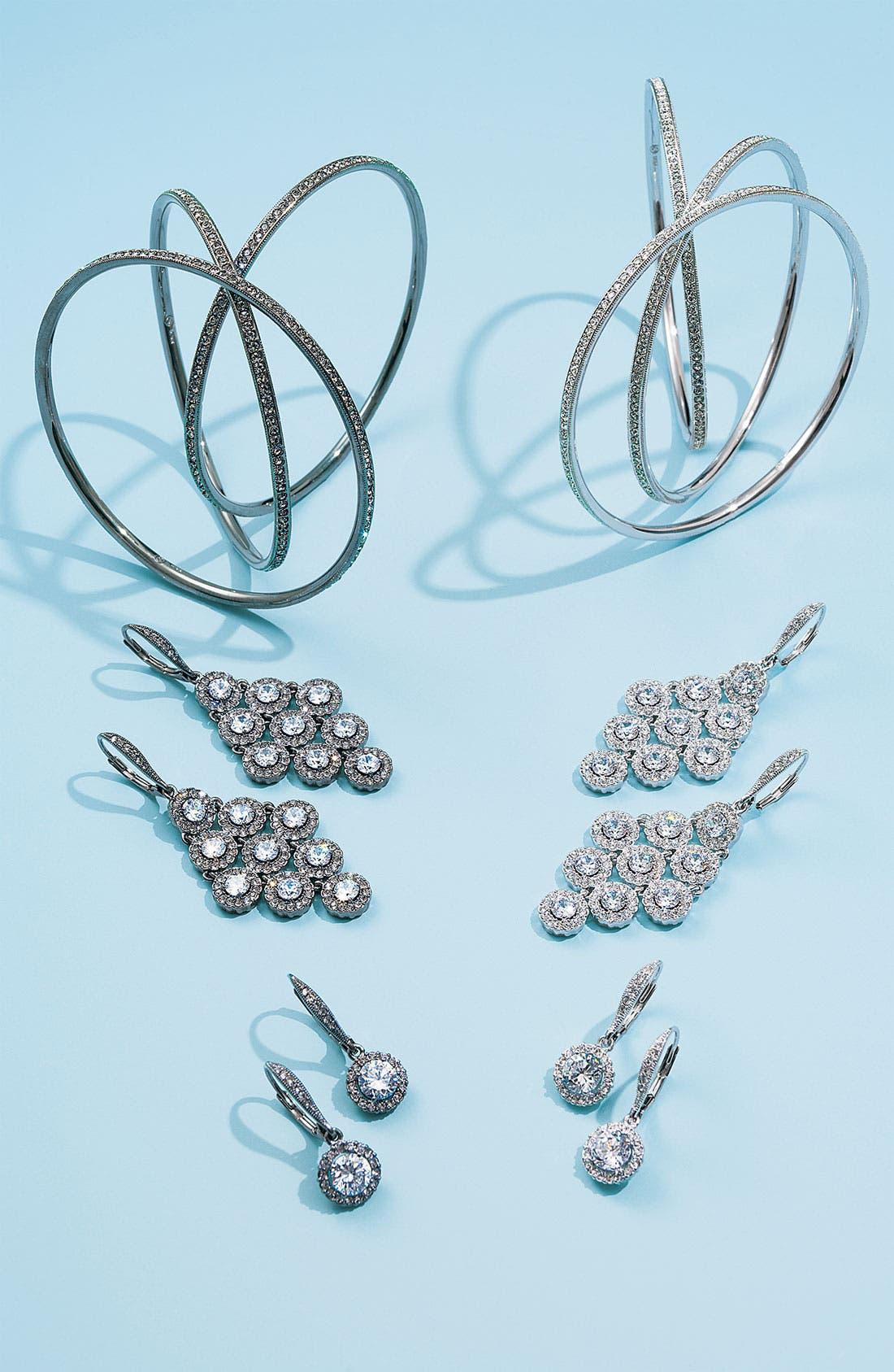 Alternate Image 4  - Nadri Kite Shaped Chandelier Earrings