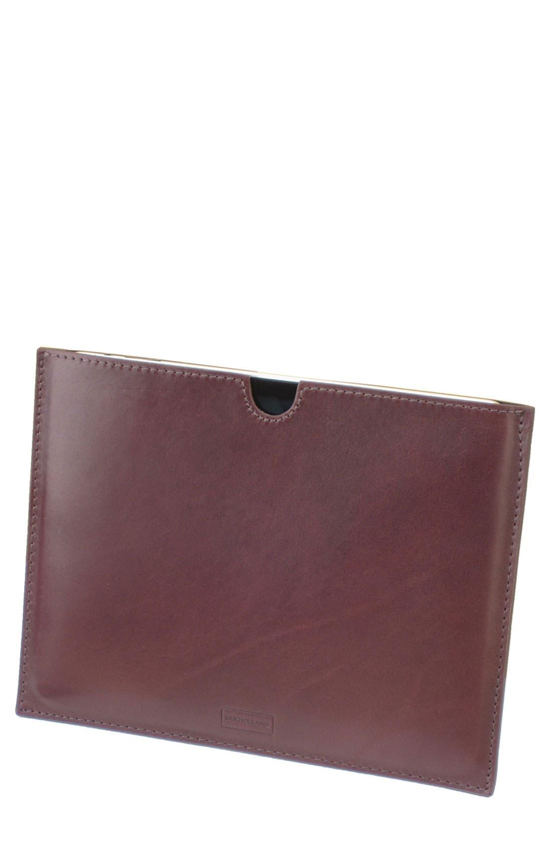 Alternate Image 1 Selected - Mulholland Leather iPad Sleeve