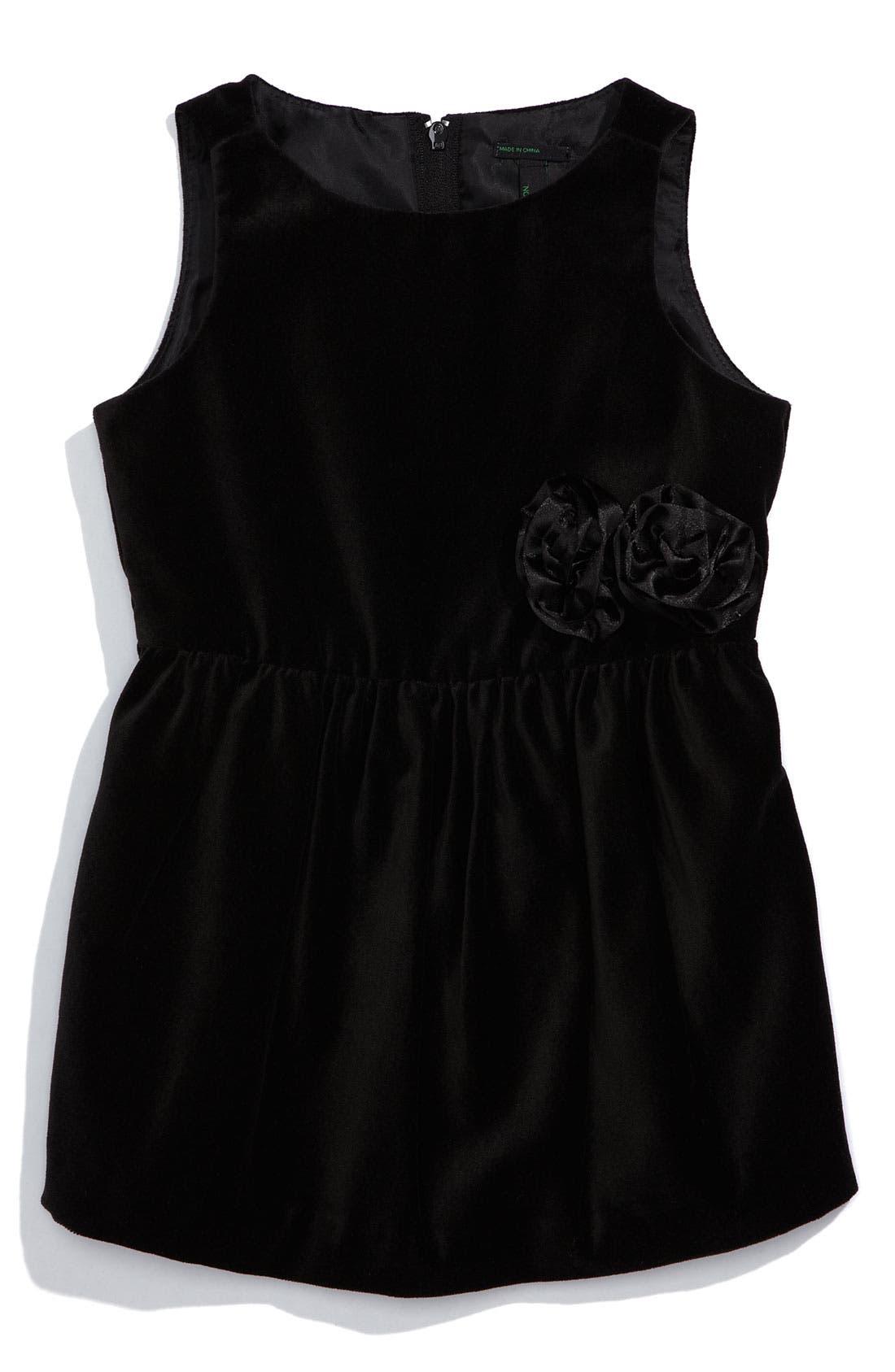 Main Image - United Colors of Benetton Kids Velvet Dress (Toddler)