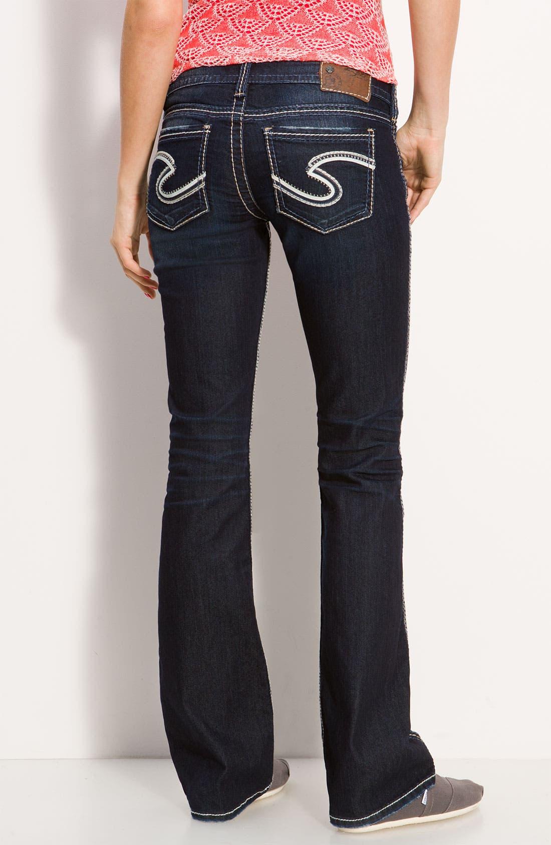 Main Image - Silver Jeans Co. 'Frances' Bootcut Jeans (Indigo Wash) (Juniors Regular & Long)