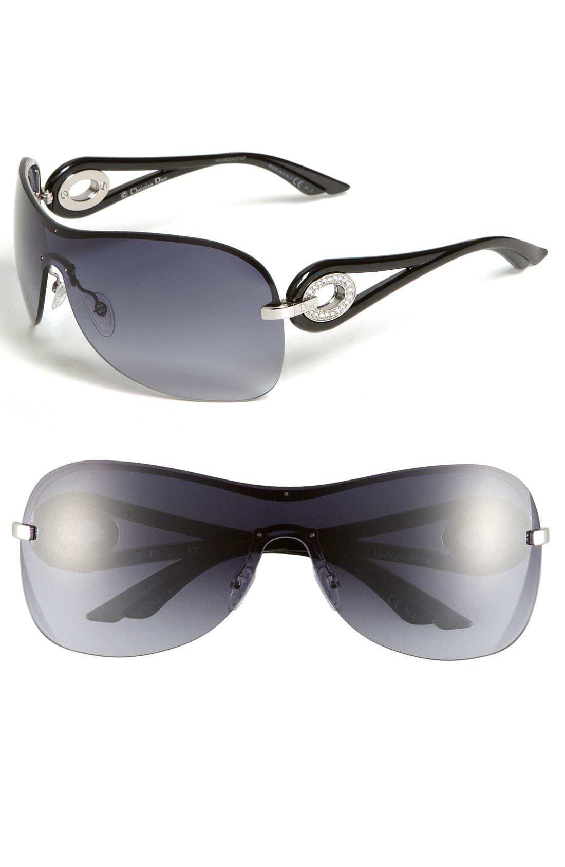Main Image - Dior 'Volute 3' Rimless Shield Sunglasses