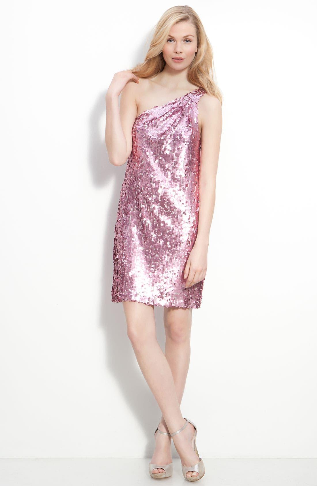 Alternate Image 4  - Alexia Admor One Shoulder Sequin Dress
