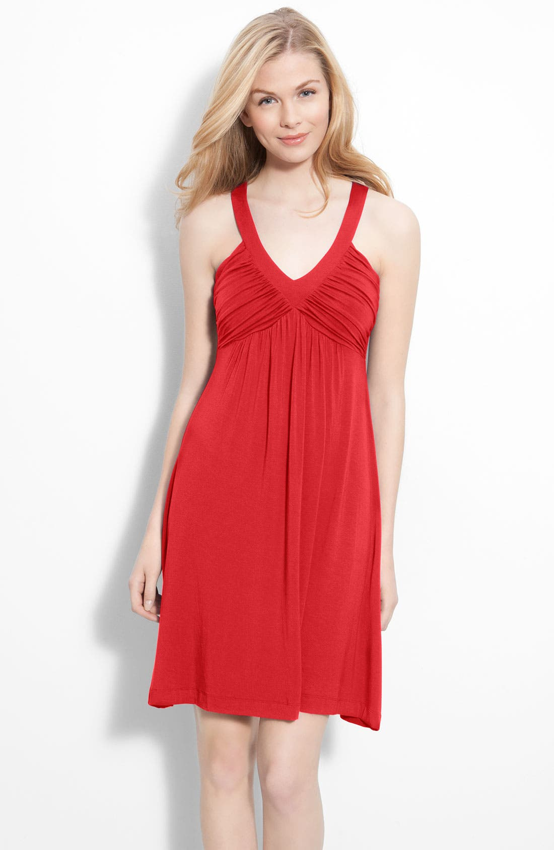 Main Image - Calvin Klein Ruched Bodice Jersey Dress
